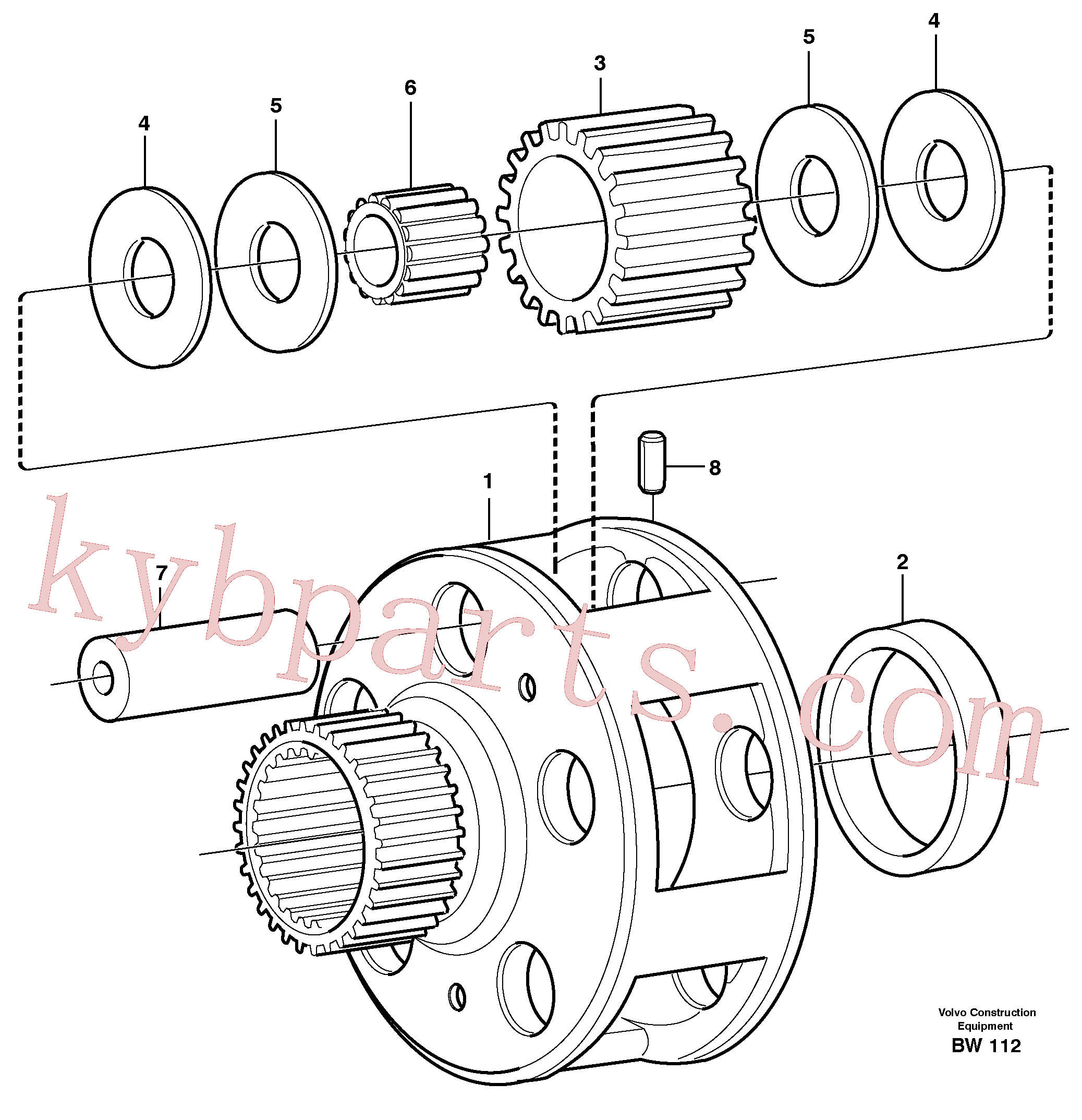 VOE11036759 for Volvo Planet kit, stage 4(BW112 assembly)