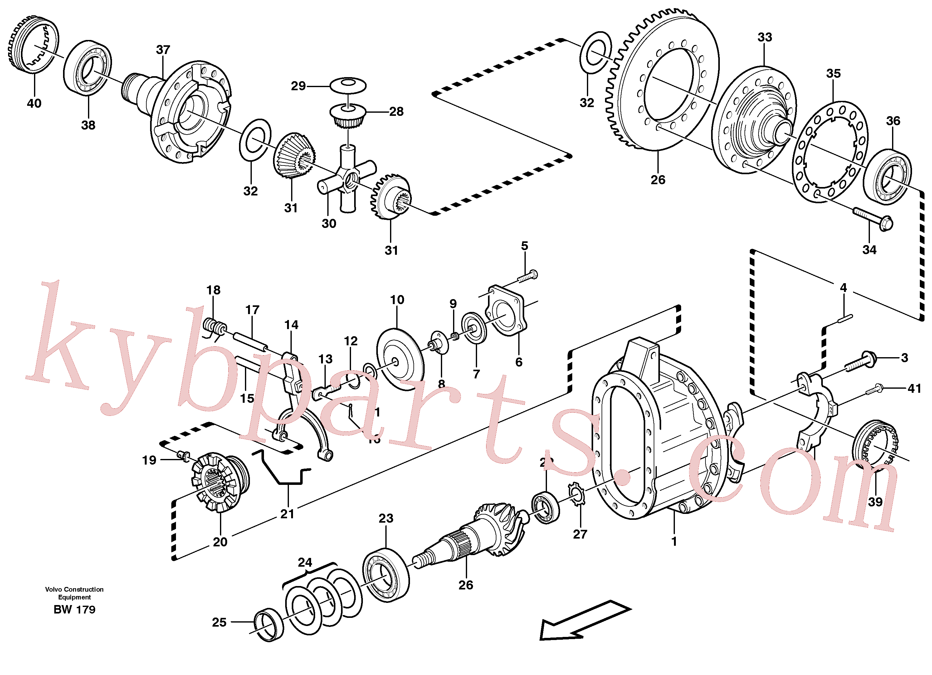 VOE11102656 for Volvo Final drive(BW179 assembly)
