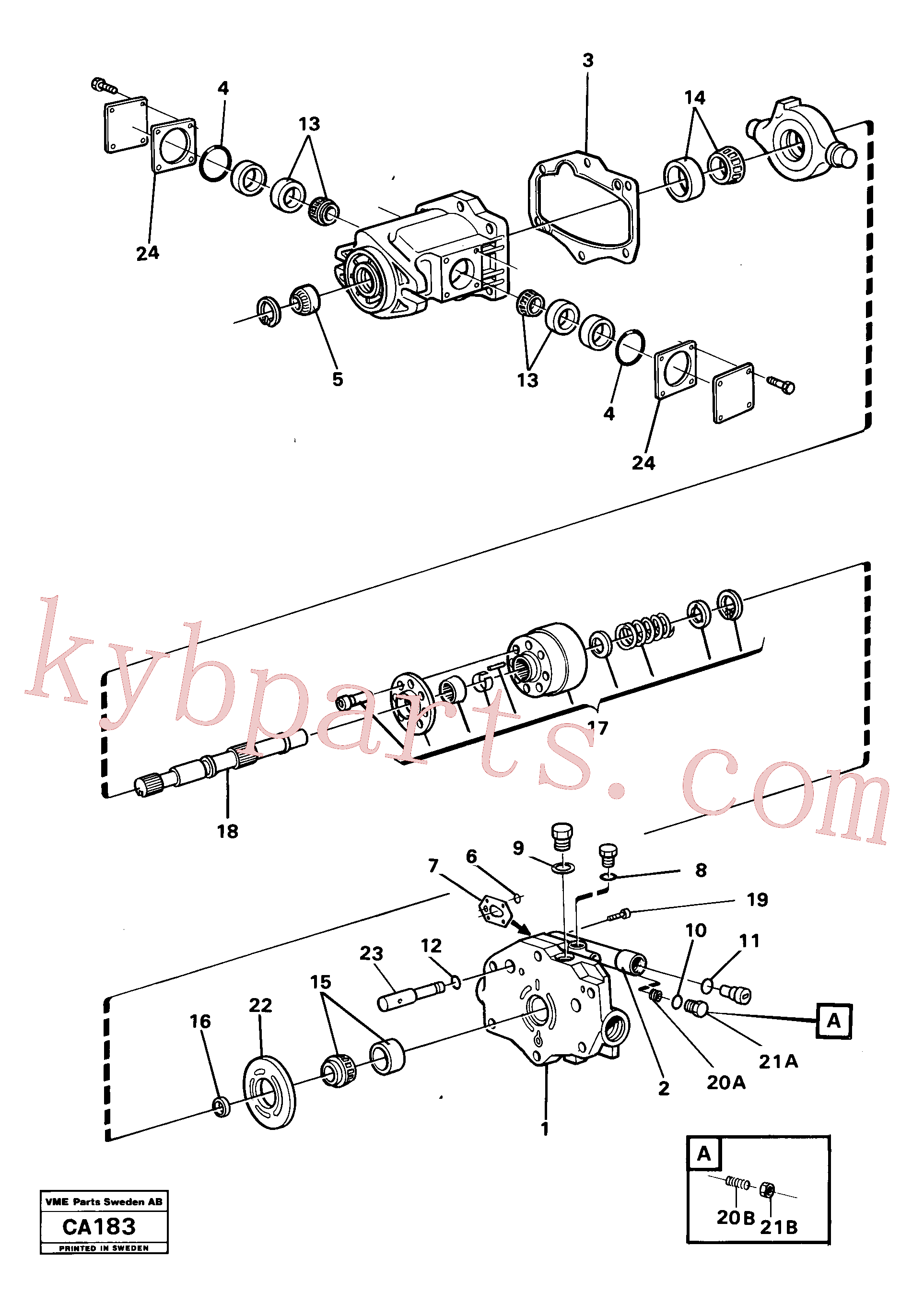 VOE11993483 for Volvo Hydraulic pump(CA183 assembly)