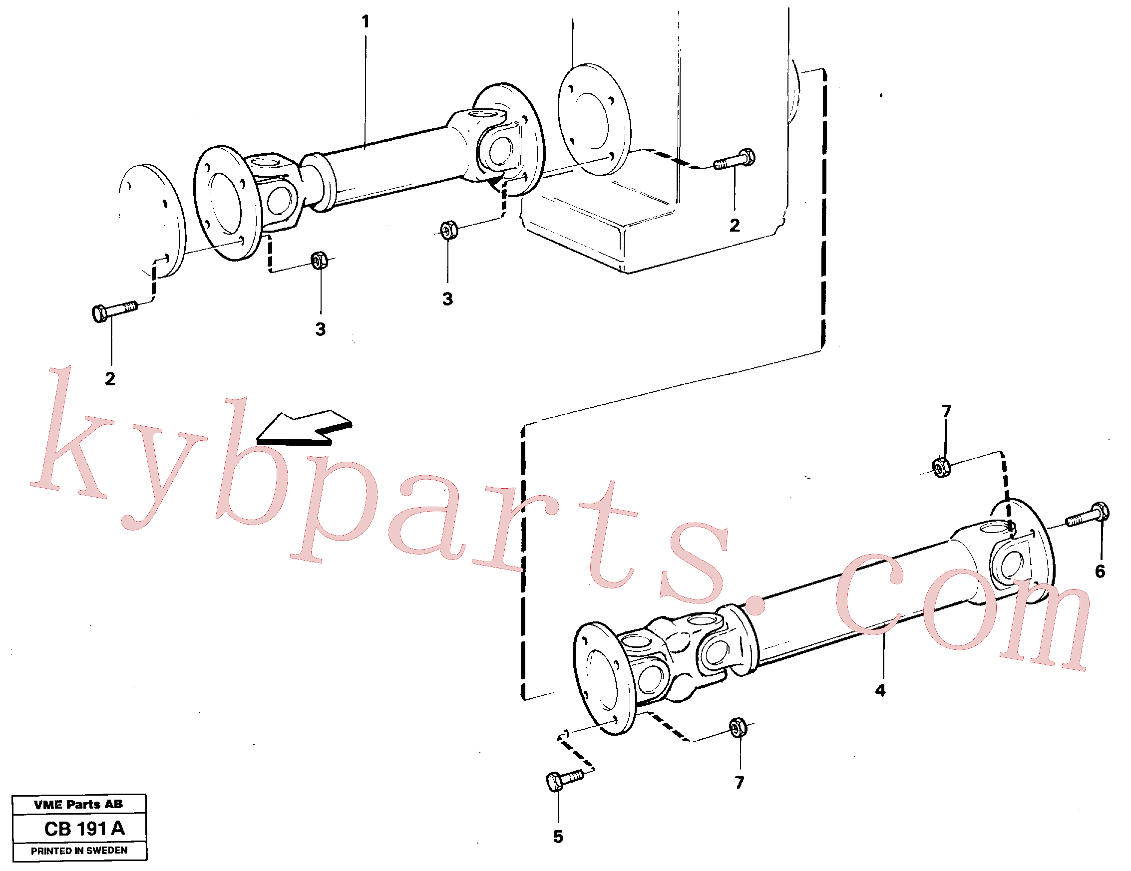 VOE981315 for Volvo Power shafts(CB191A assembly)