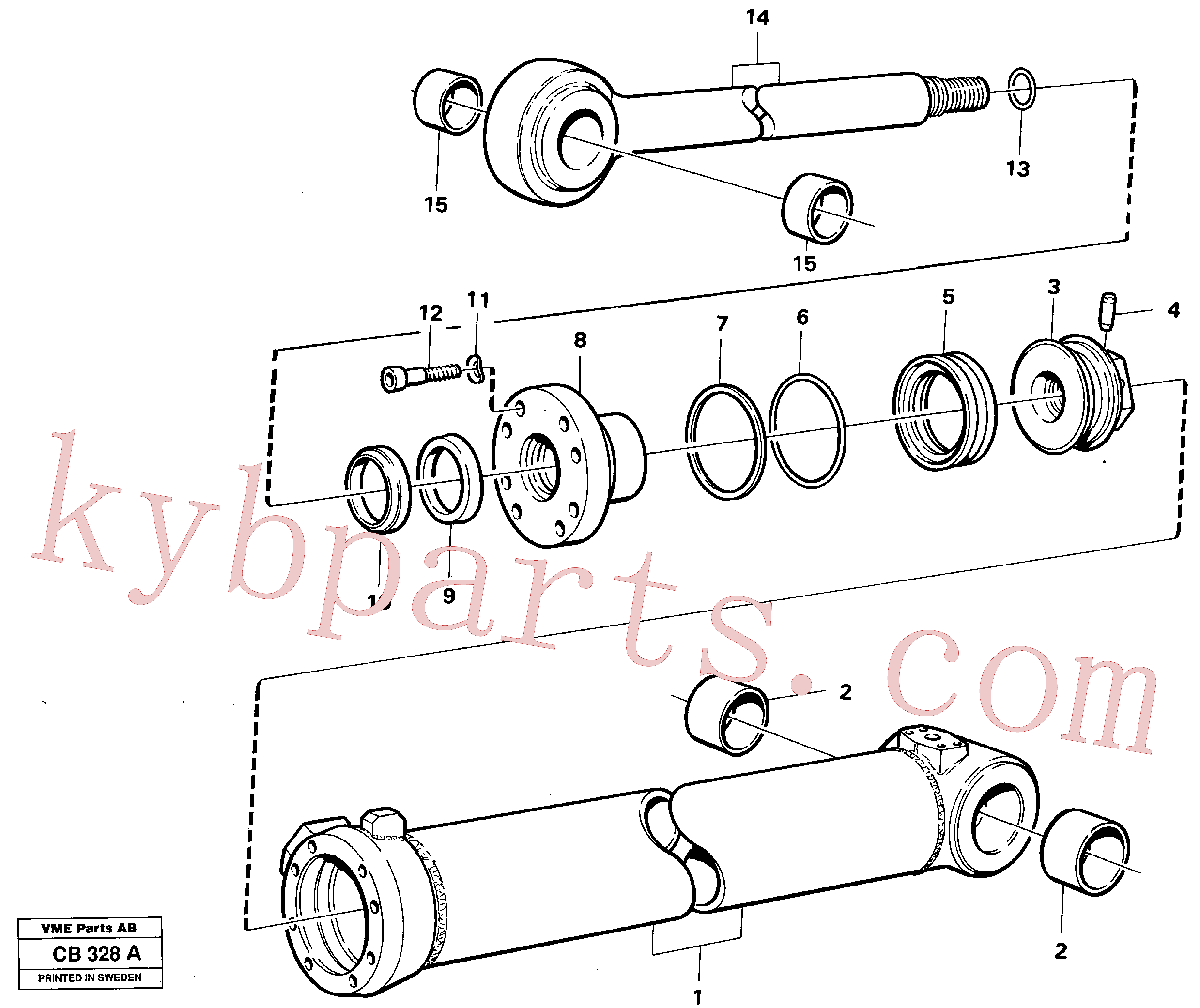 VOE4784843 for Volvo Extendable dipper cylinder(CB328A assembly)