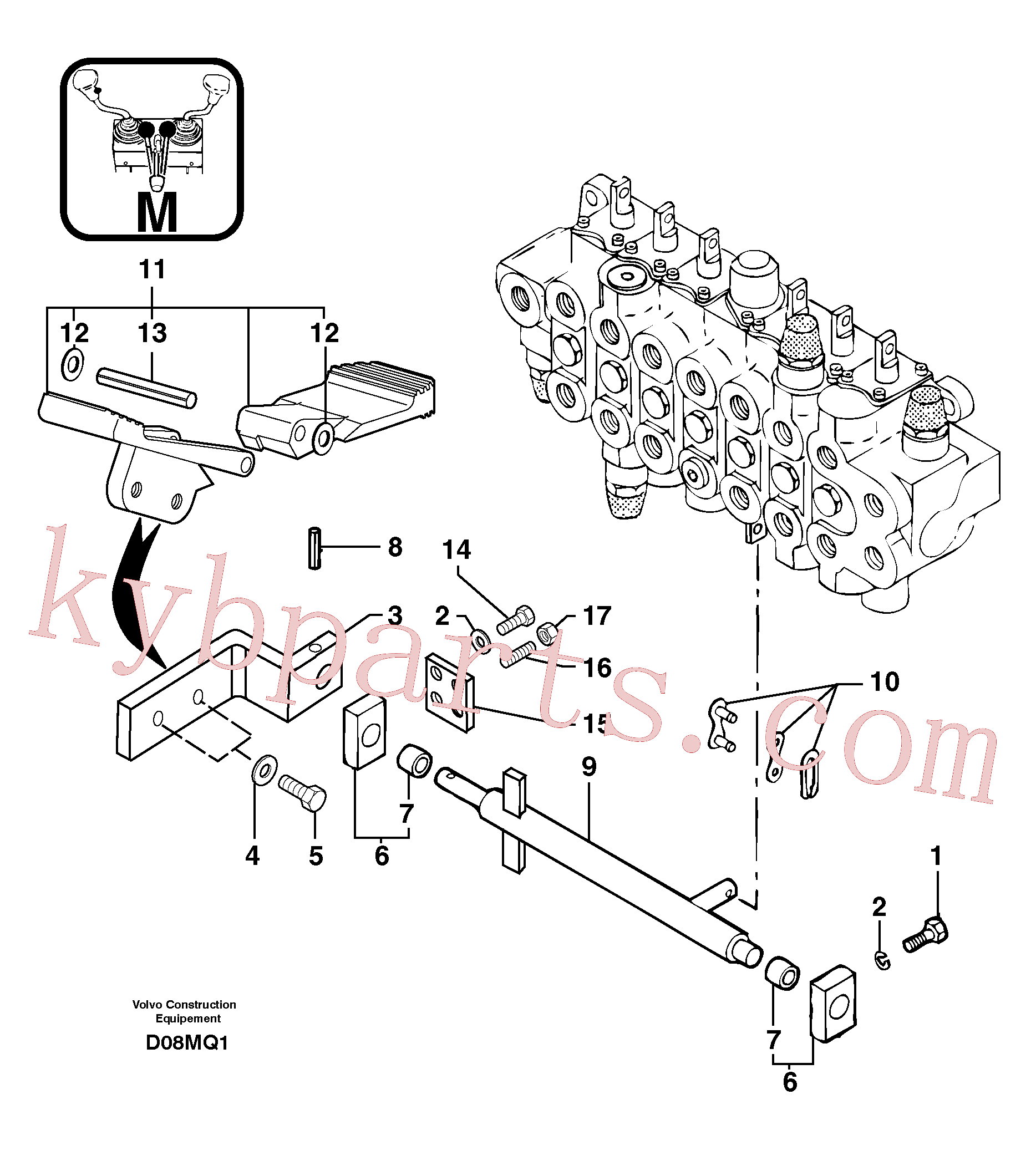 PJ4380033 for Volvo Control pedal : accessories(D08MQ1 assembly)
