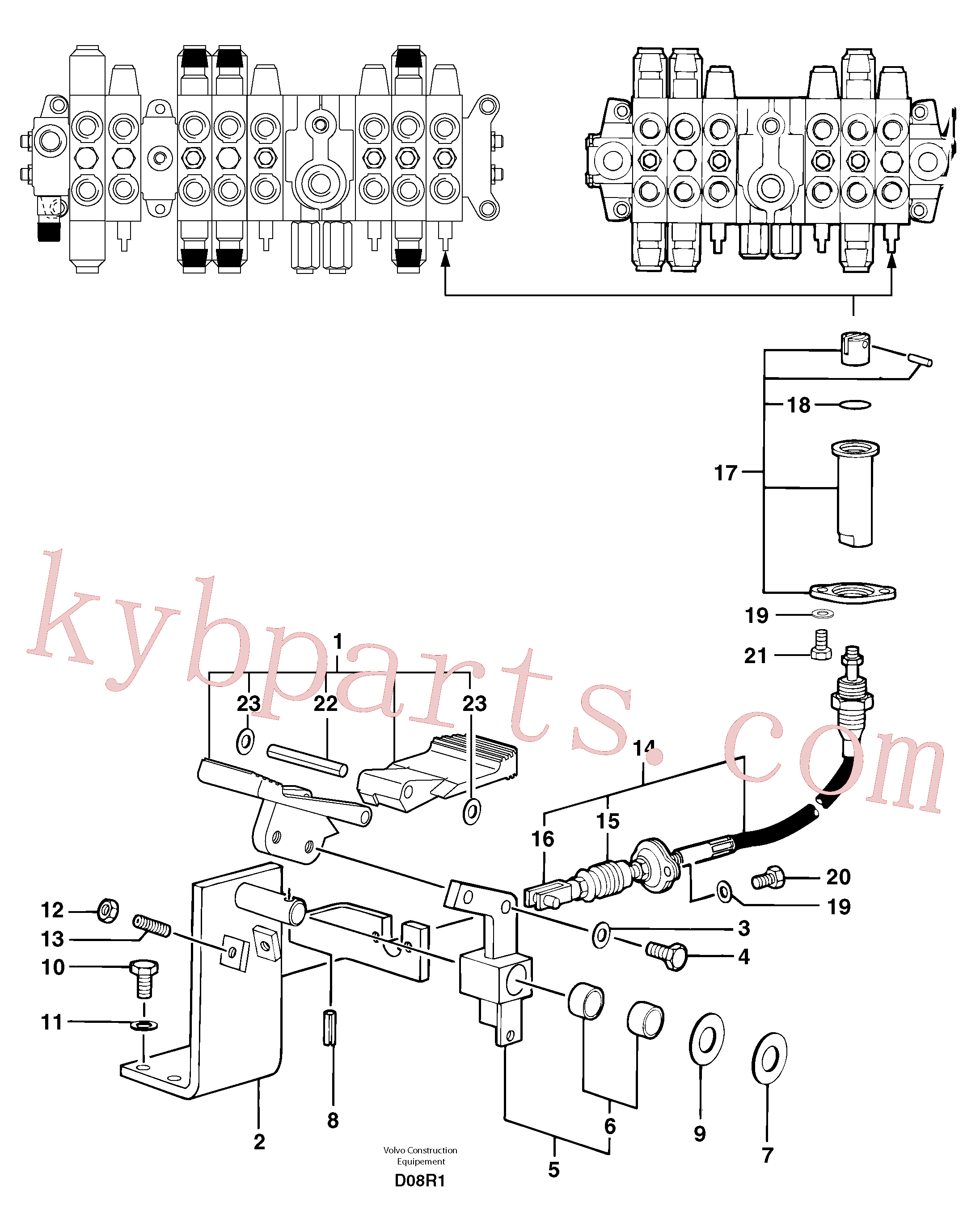 PJ7412468 for Volvo Control pedal : accessories on attachment - 75 l/m(D08R1 assembly)