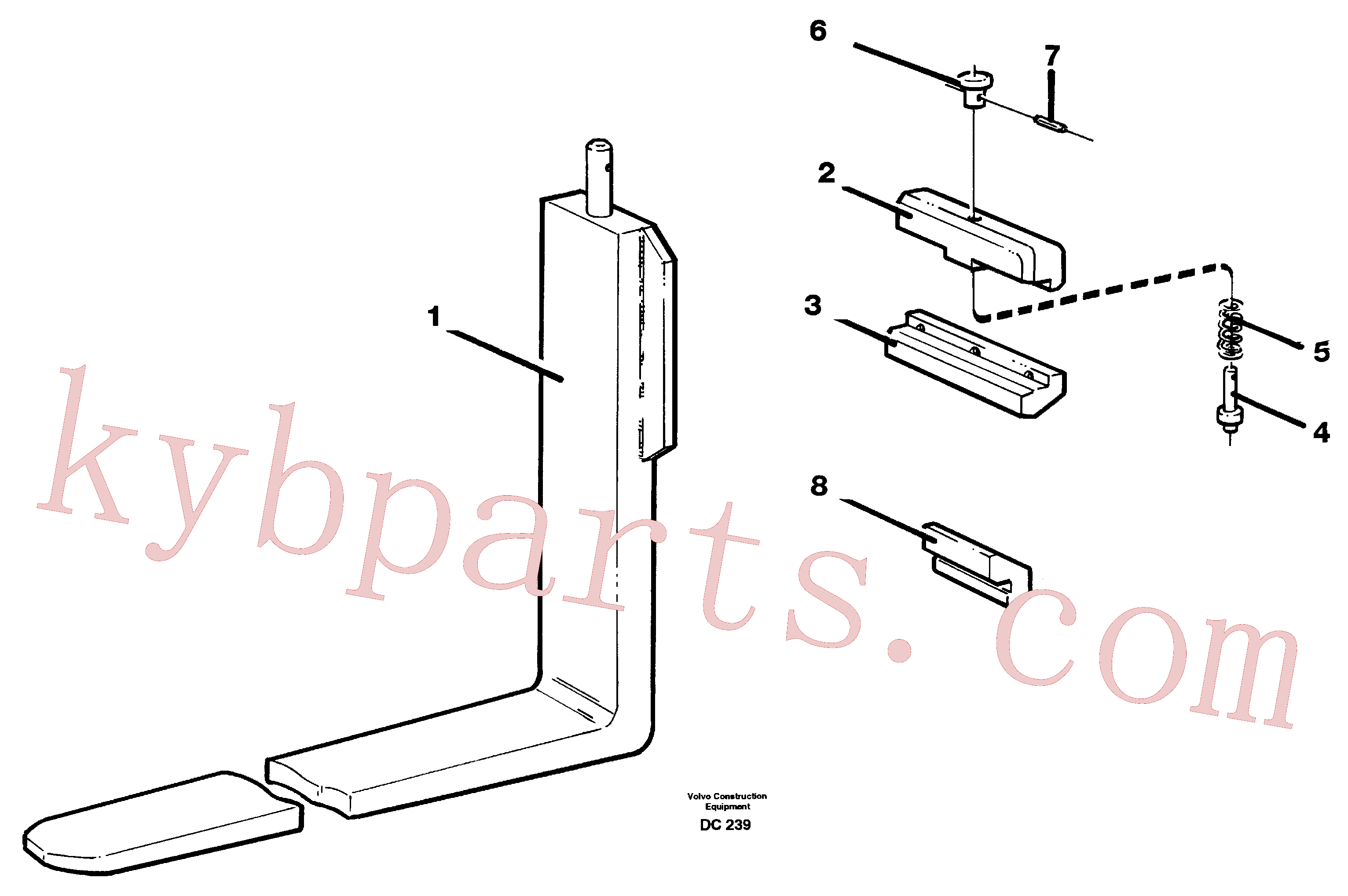 VOE11142728 for Volvo Fork tines(DC239 assembly)