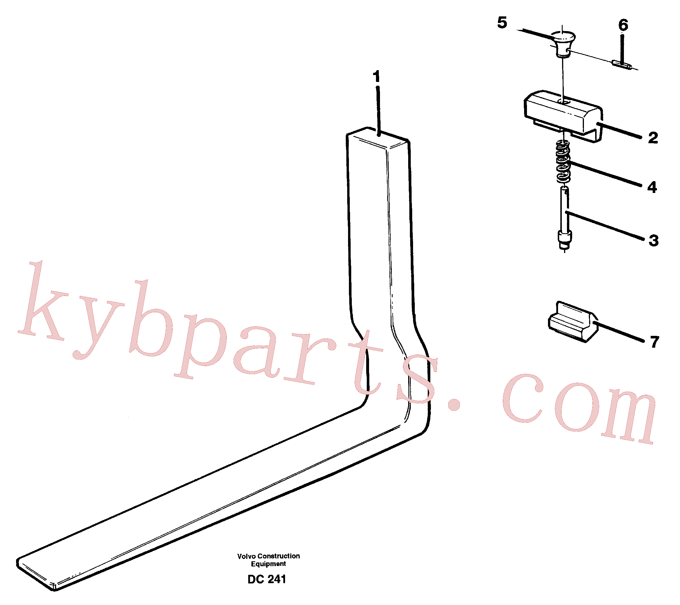 VOE11142728 for Volvo Fork tines(DC241 assembly)