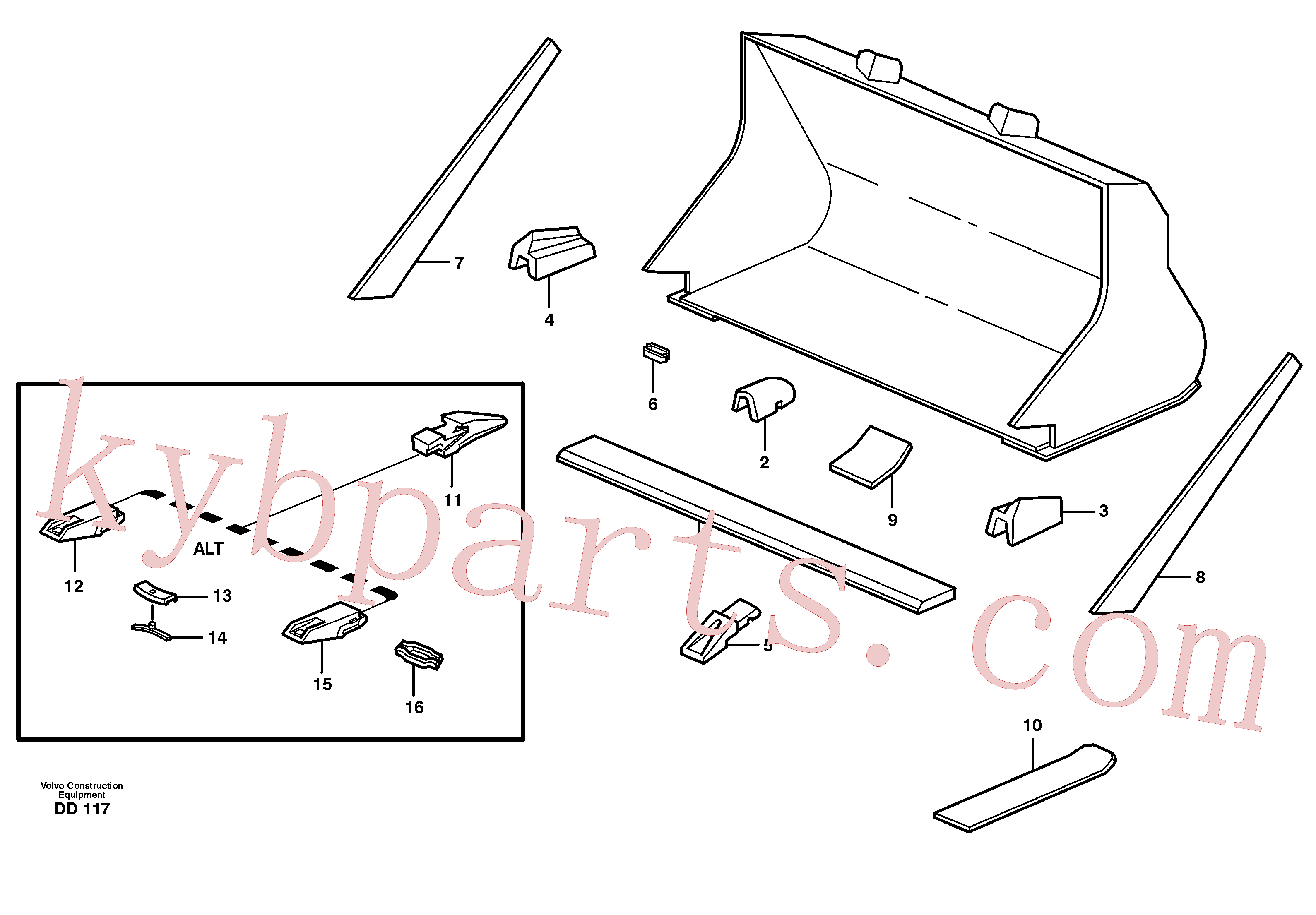 VOE4780569 for Volvo Bucket, straight with teeth(DD117 assembly)
