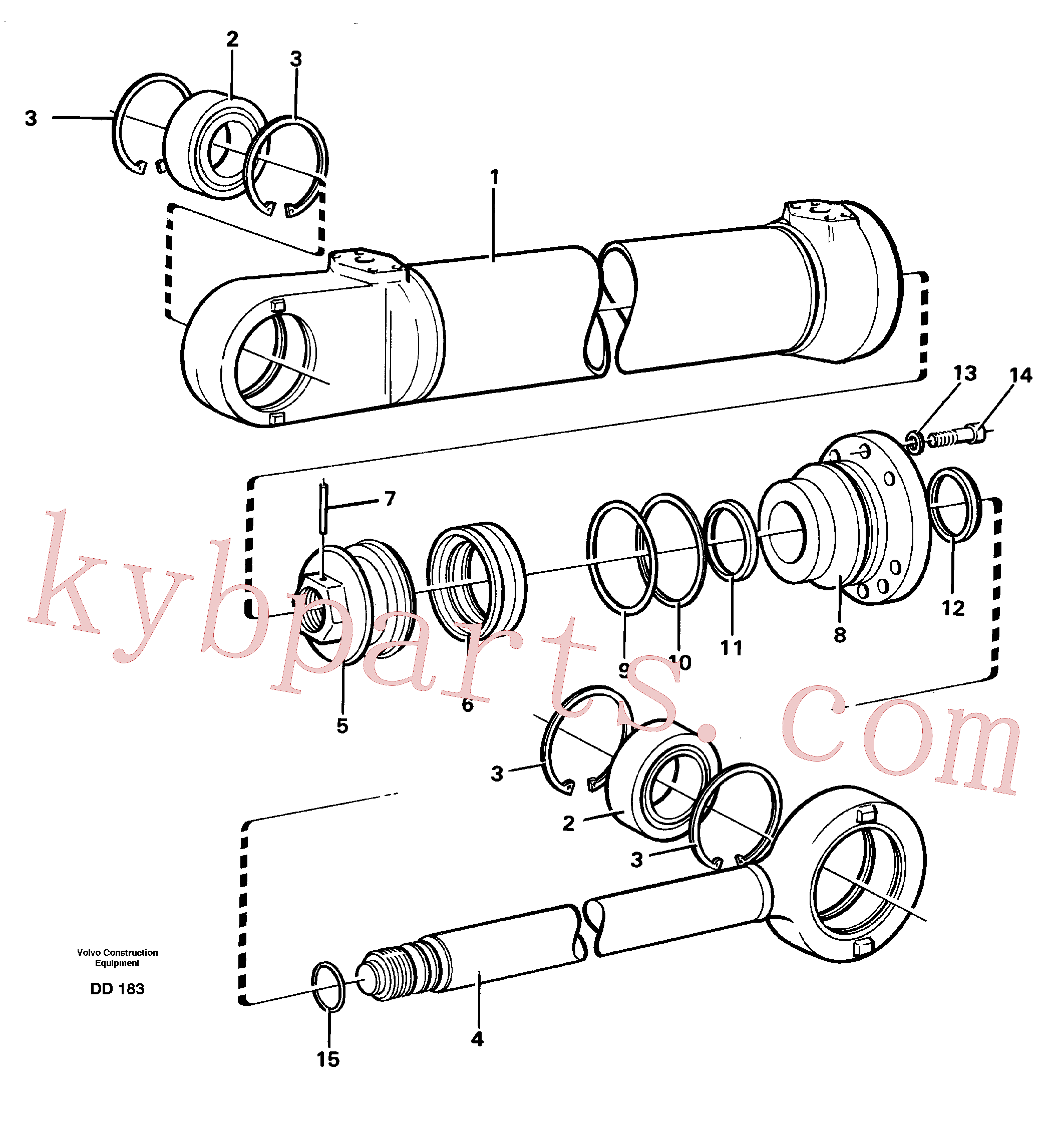 VOE4784843 for Volvo Hydraulic cylinder(DD183 assembly)