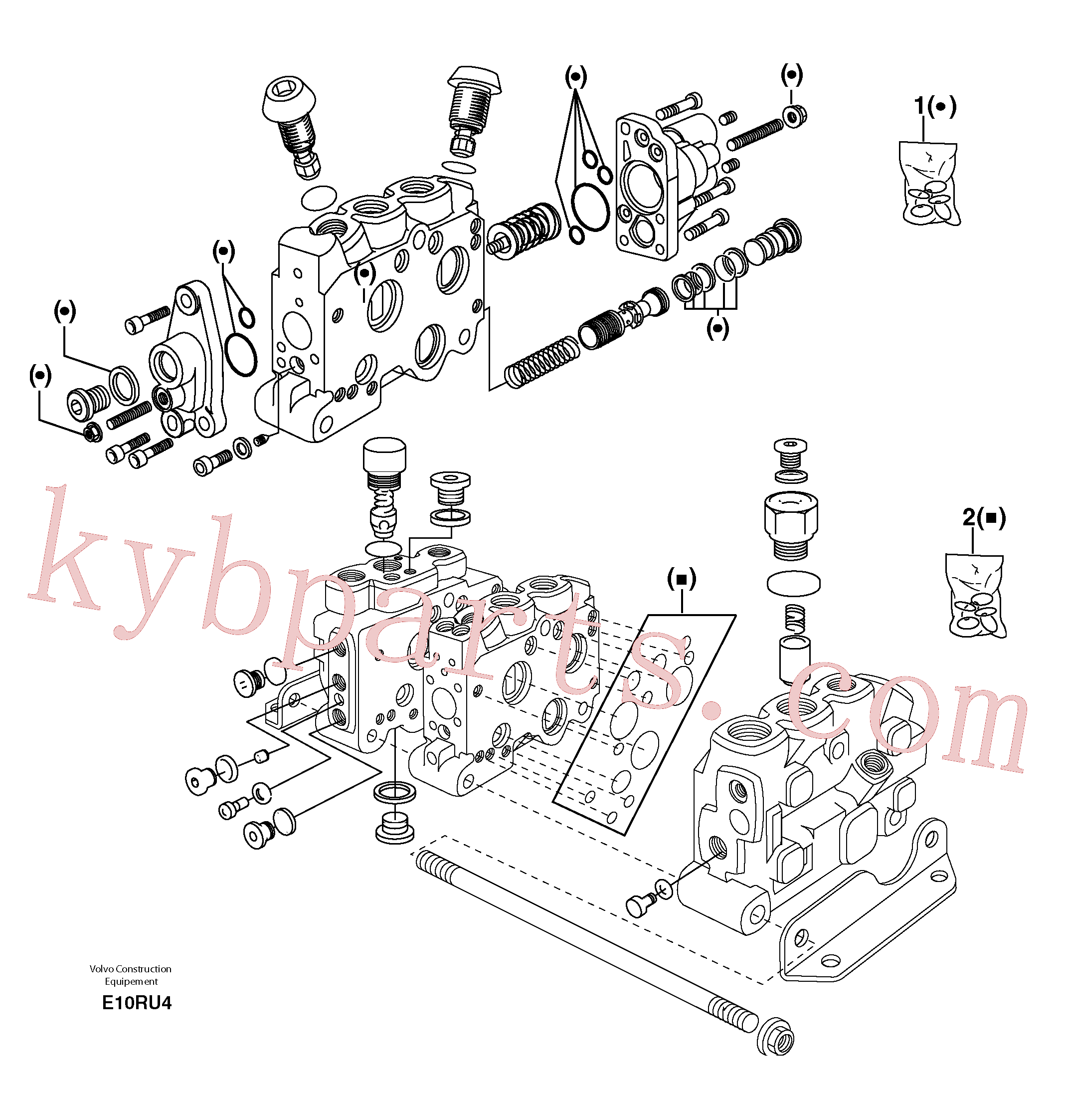 VOE11701439 for Volvo Control valve : seal (kit) for complete element(E10RU4 assembly)