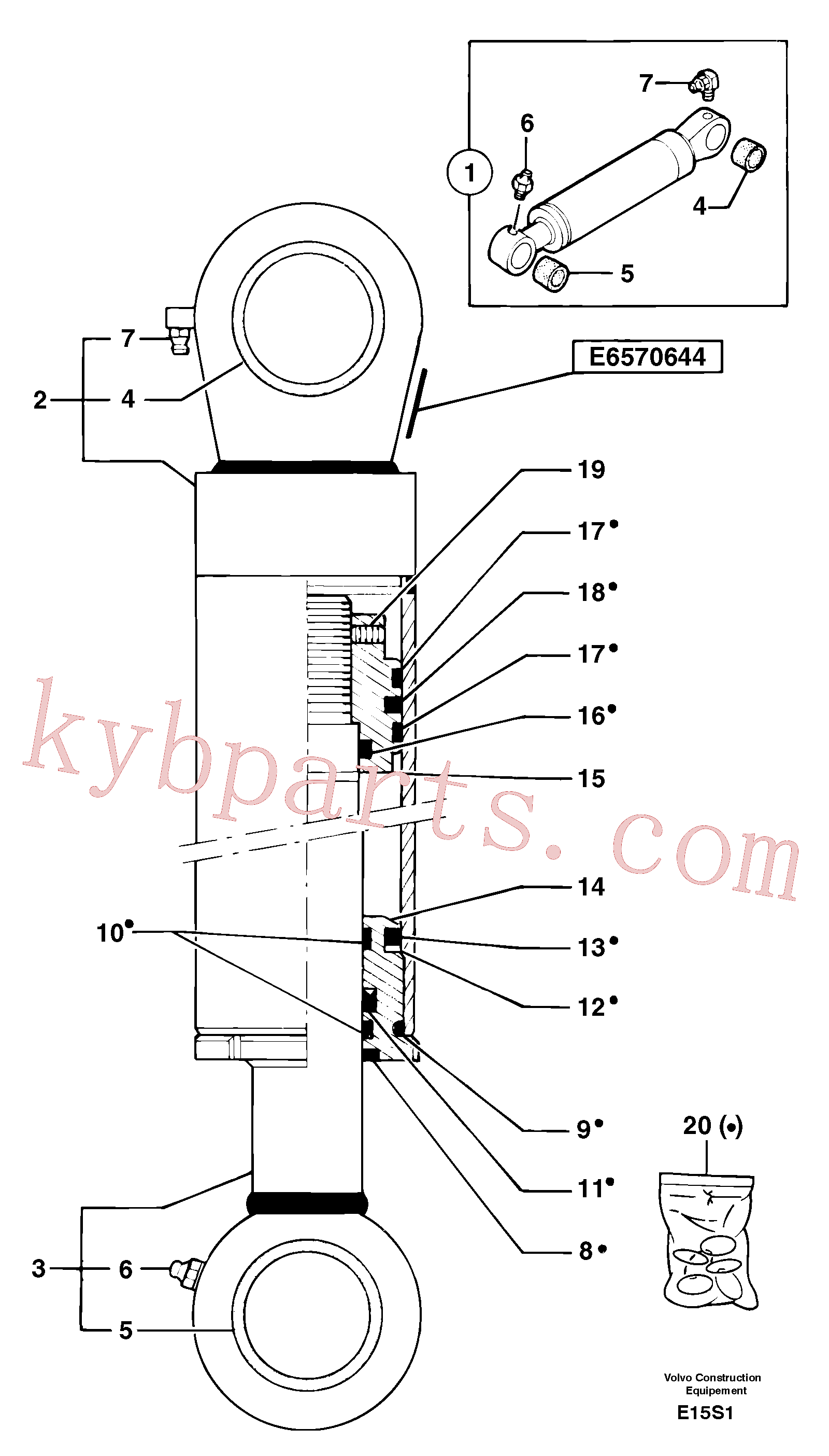 PJ5670644 for Volvo Bucket cylinder(E15S1 assembly)