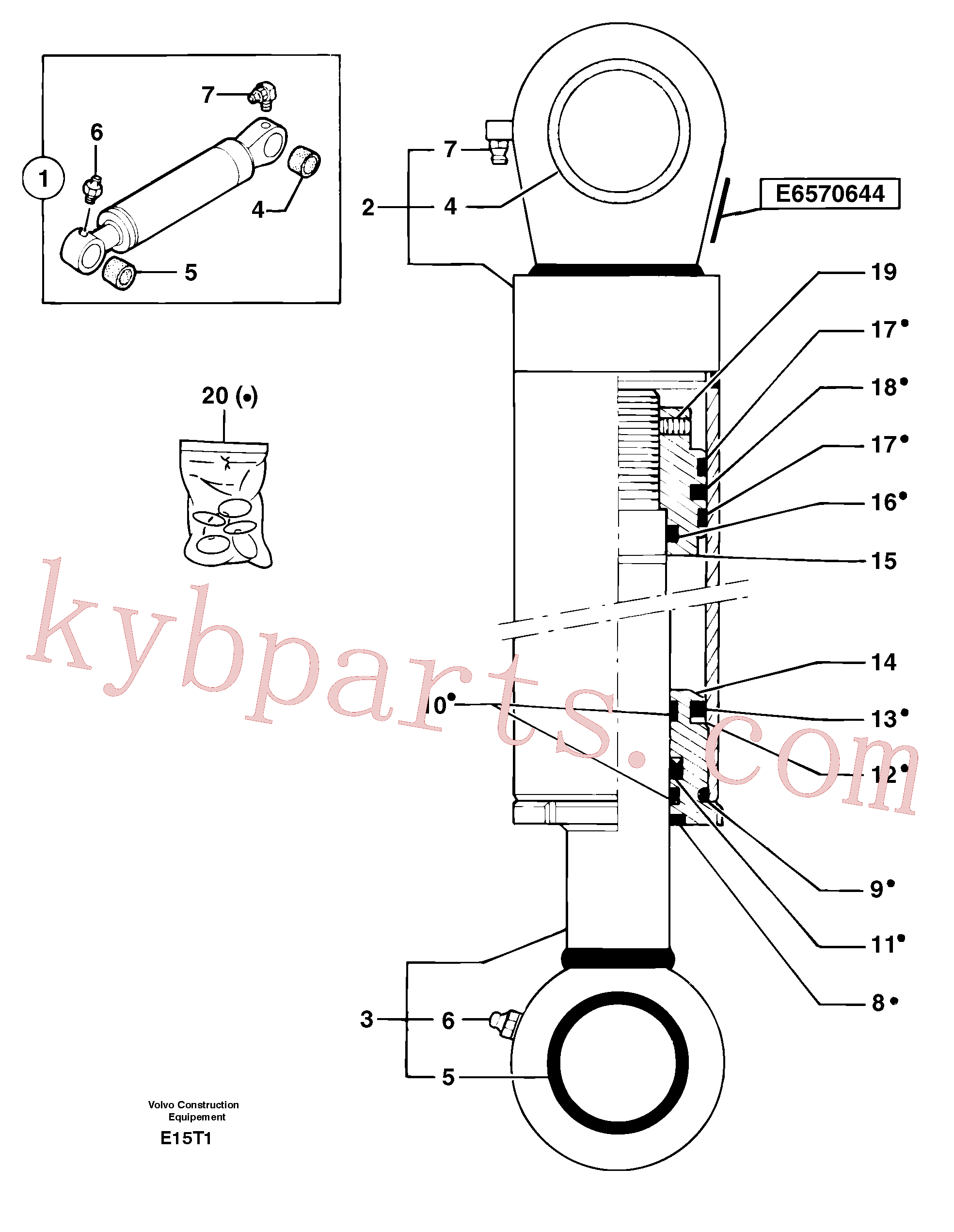 PJ5670644 for Volvo Bucket cylinder(E15T1 assembly)