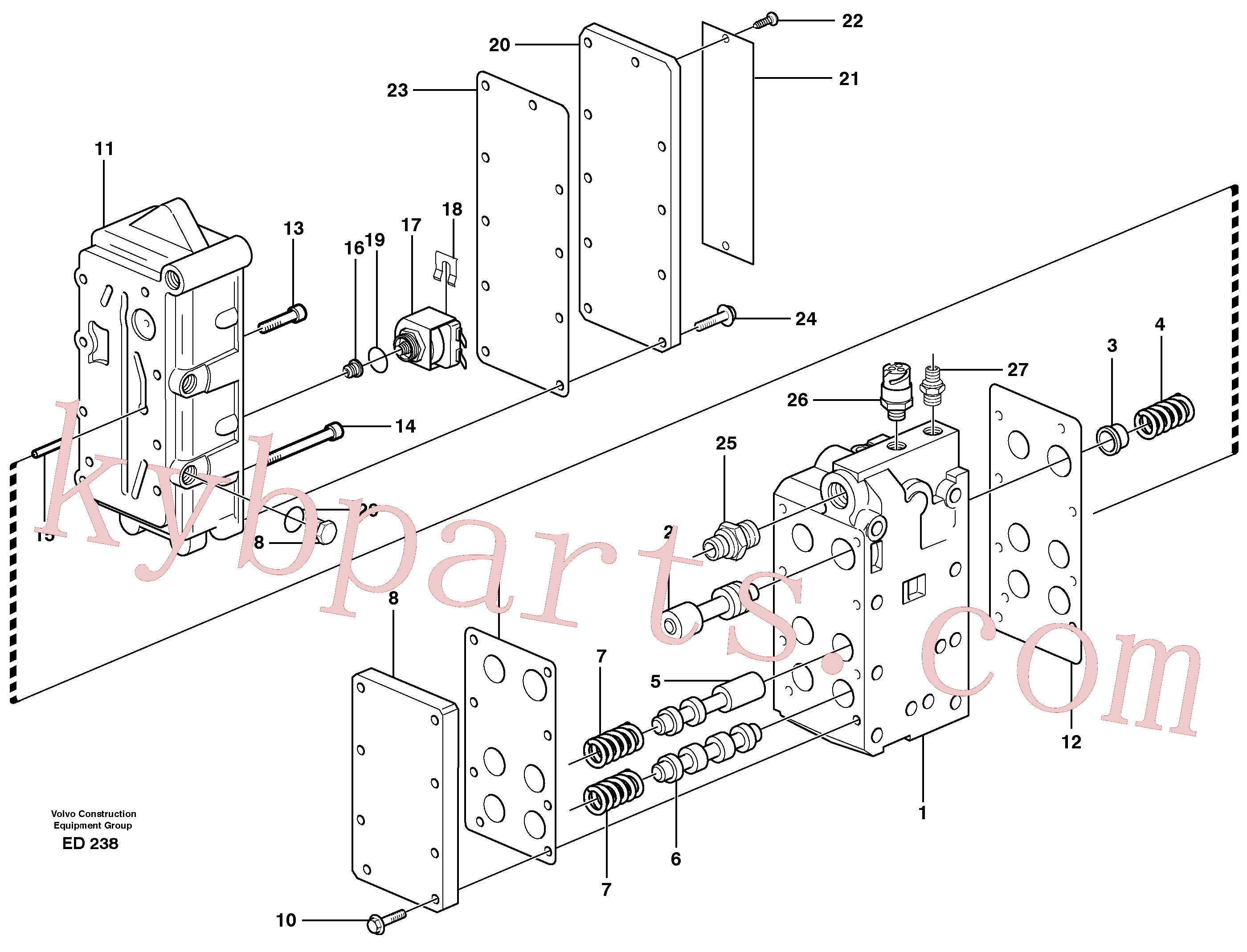 VOE941371 for Volvo Gear selector valve(ED238 assembly)