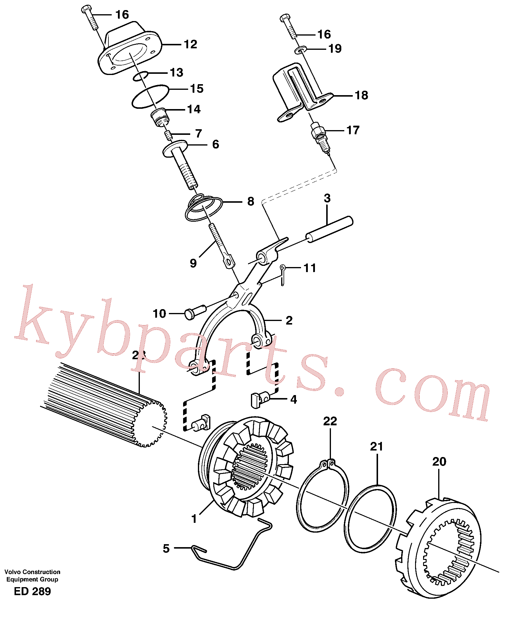 VOE11102798 for Volvo Differential lock(ED289 assembly)