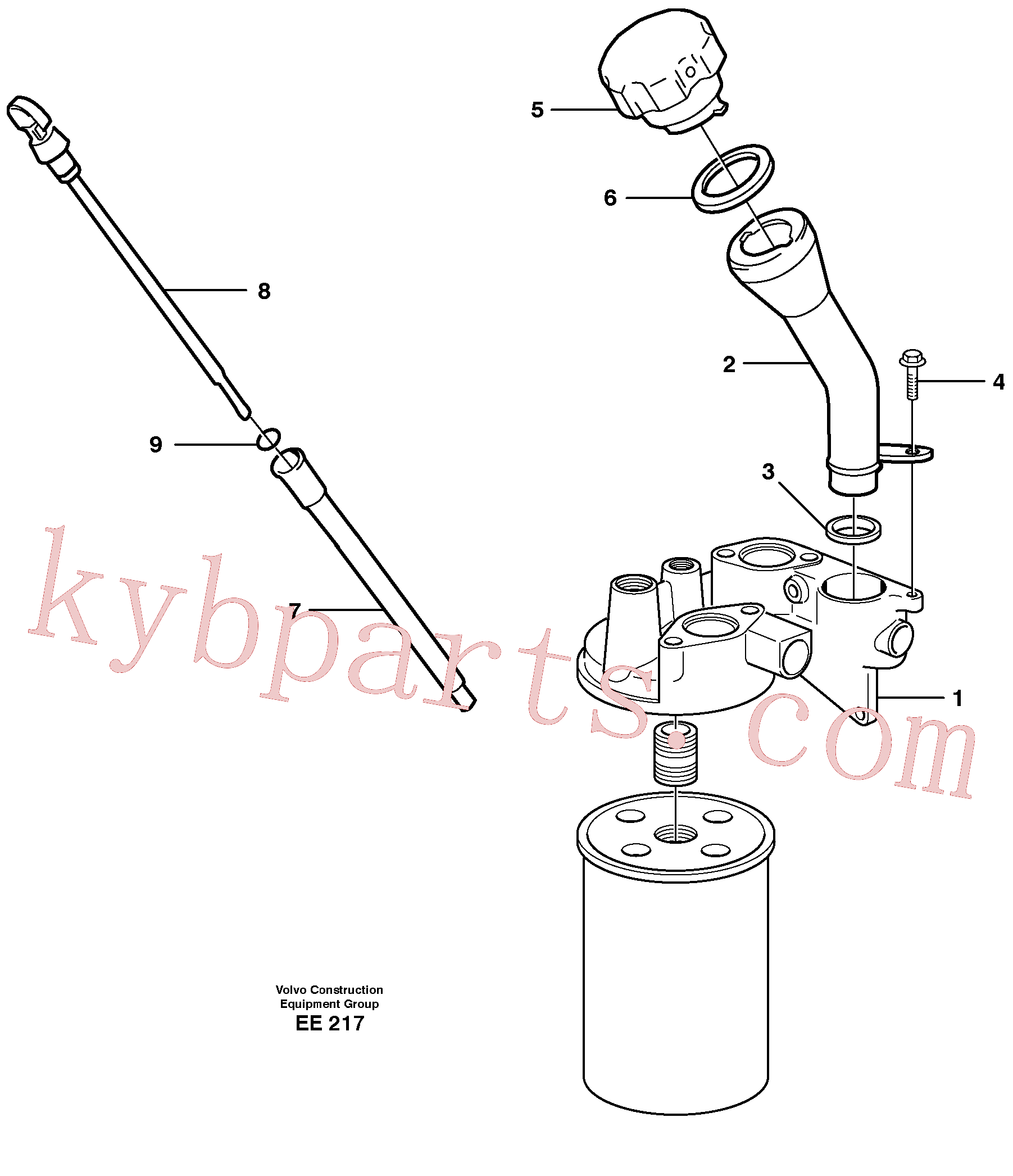 VOE3547599 for Volvo Oil filler and dipstick(EE217 assembly)