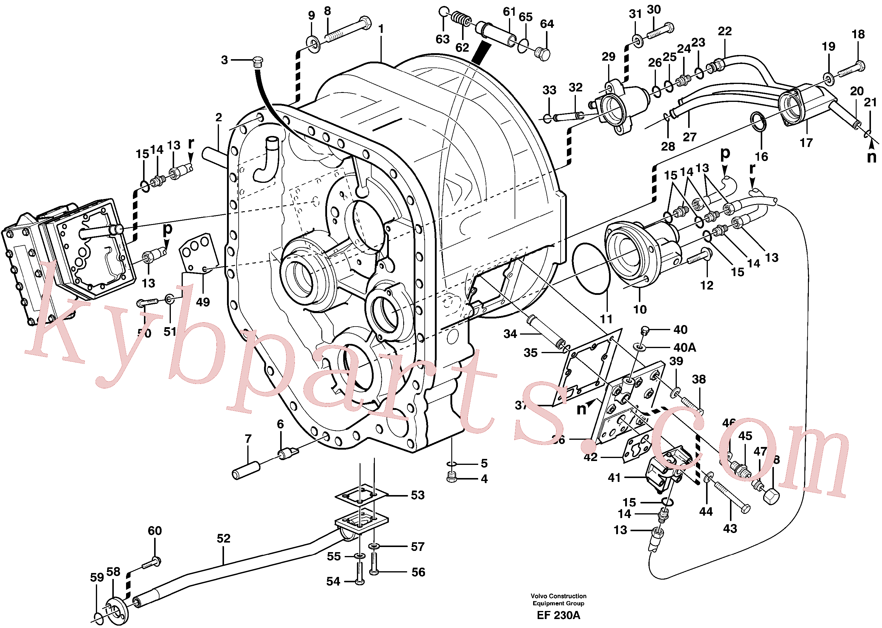 VOE941371 for Volvo Converter housing with fitting parts(EF230A assembly)