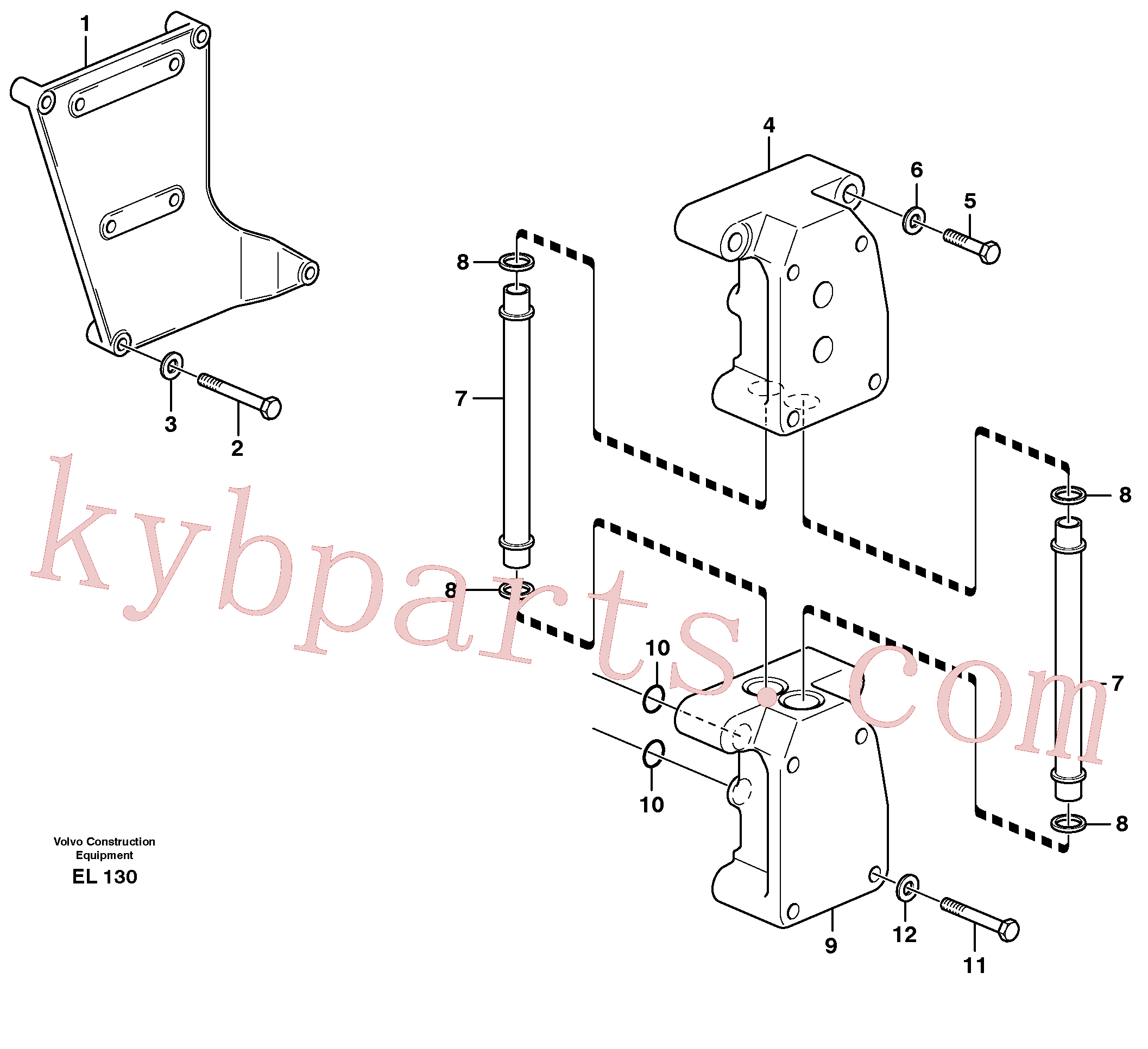 VOE955536 for Volvo Distribution housing(EL130 assembly)