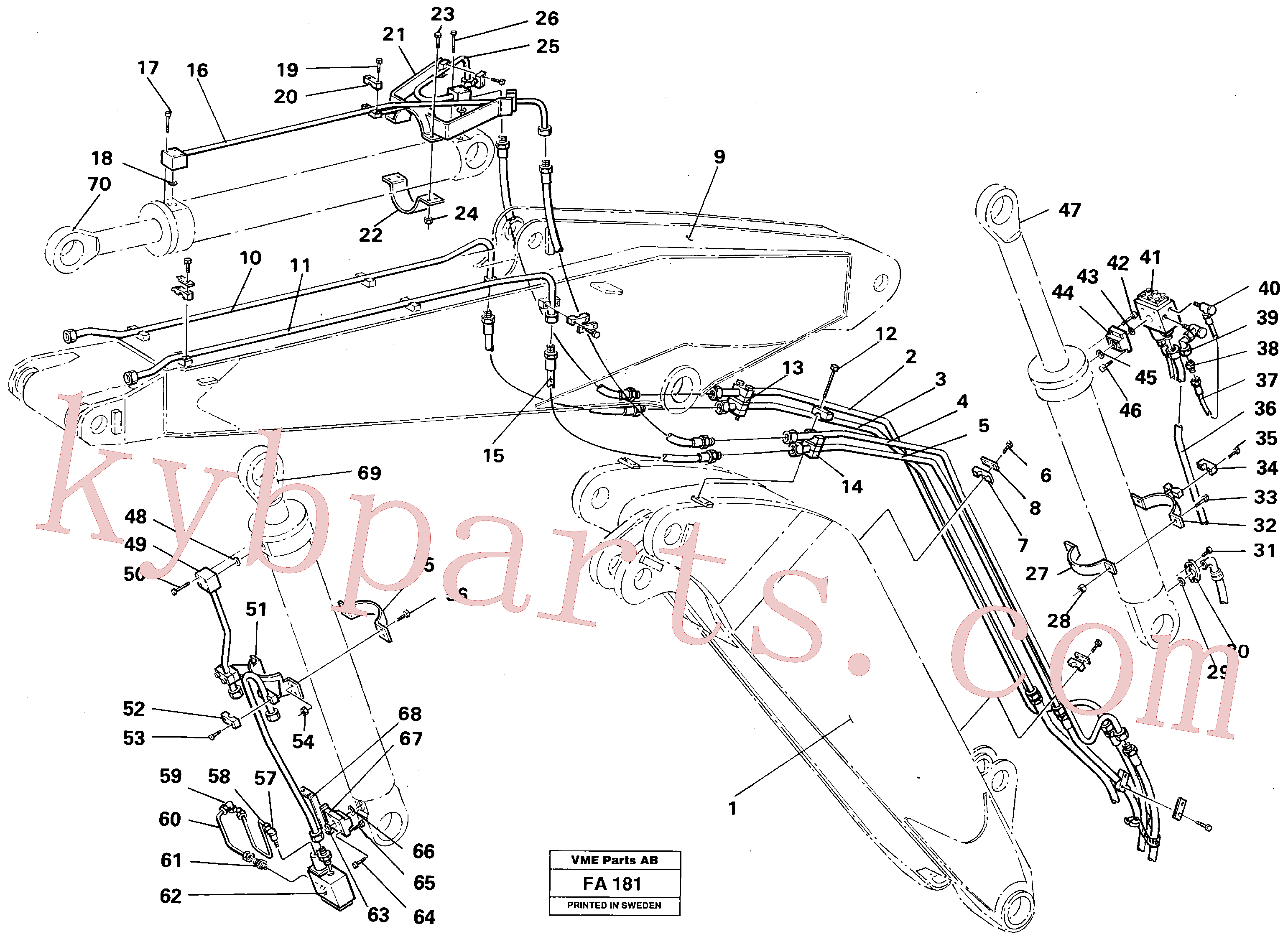 VOE14254516 for Volvo Hydraulic equipment, adjustable boom(FA181 assembly)