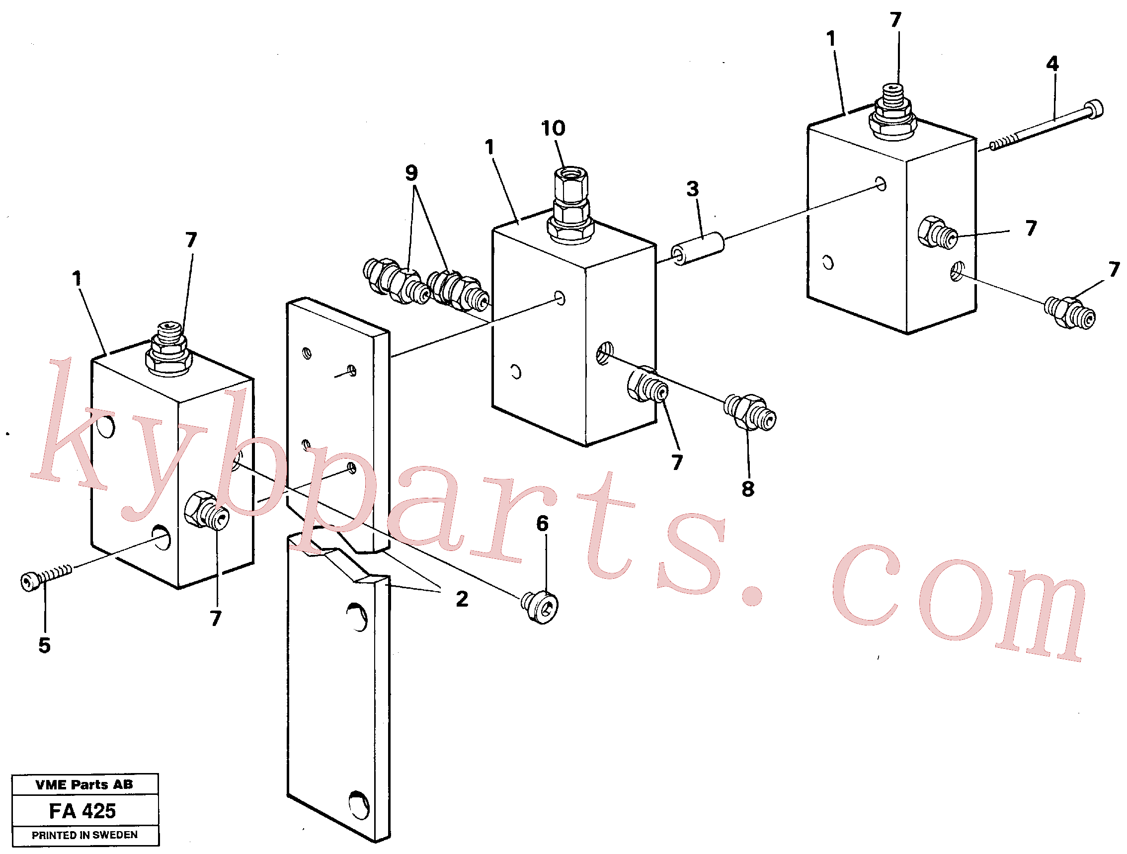 VOE14215718 for Volvo Relay valves(FA425 assembly)
