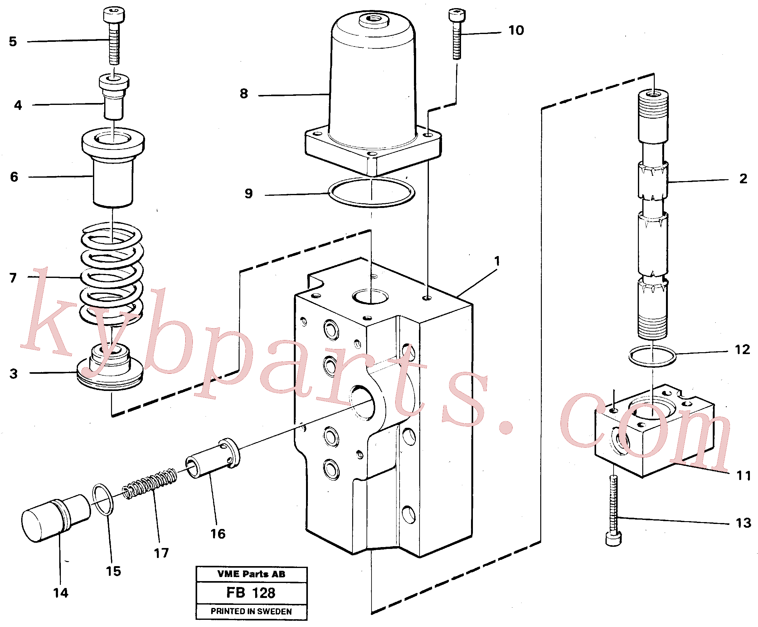 VOE14252112 for Volvo Four-way valves Primary(FB128 assembly)