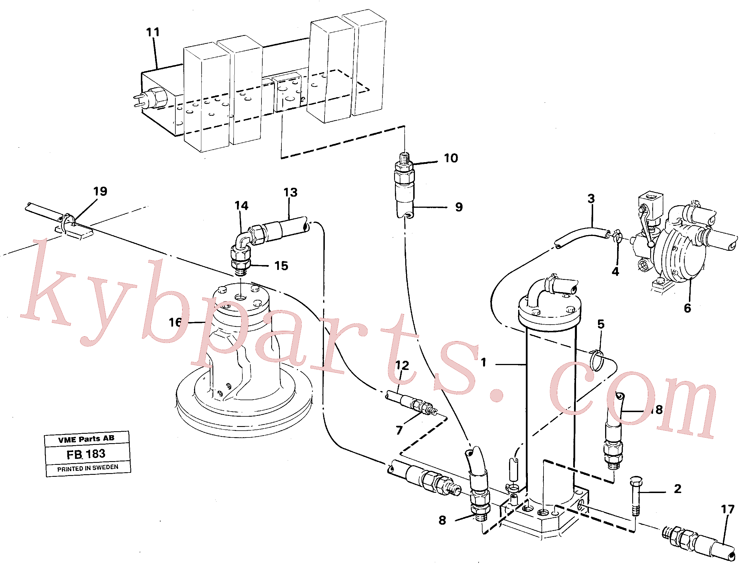 VOE14044825 for Volvo Leak oil filter incl. connections(FB183 assembly)