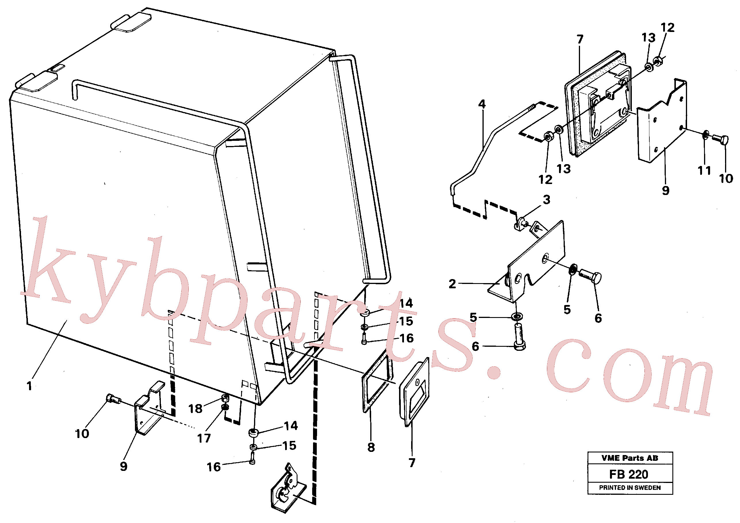 VOE14016486 for Volvo Casing over battery(FB220 assembly)