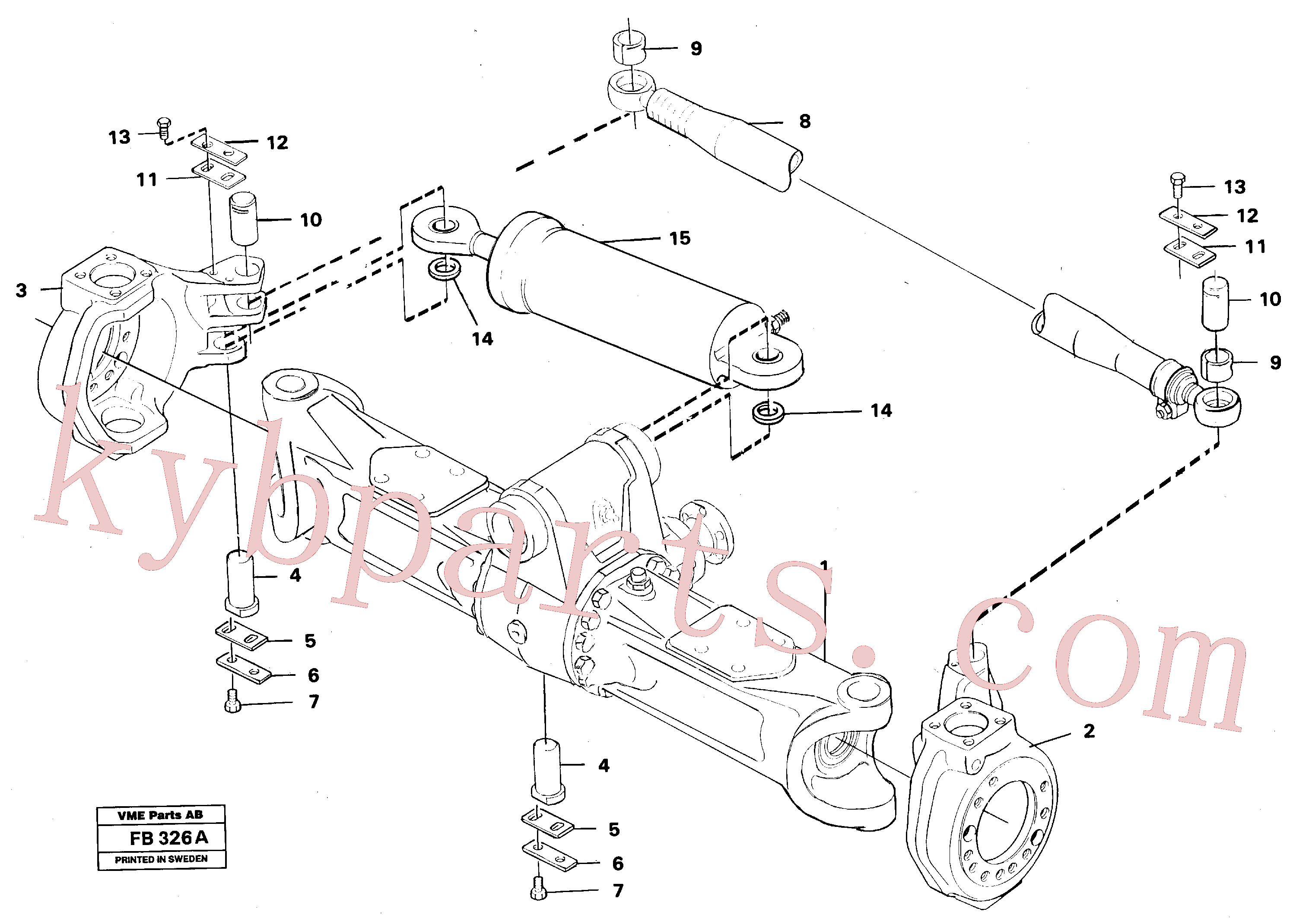 VOE14212414 for Volvo Link housing and parallel stay(FB326A assembly)
