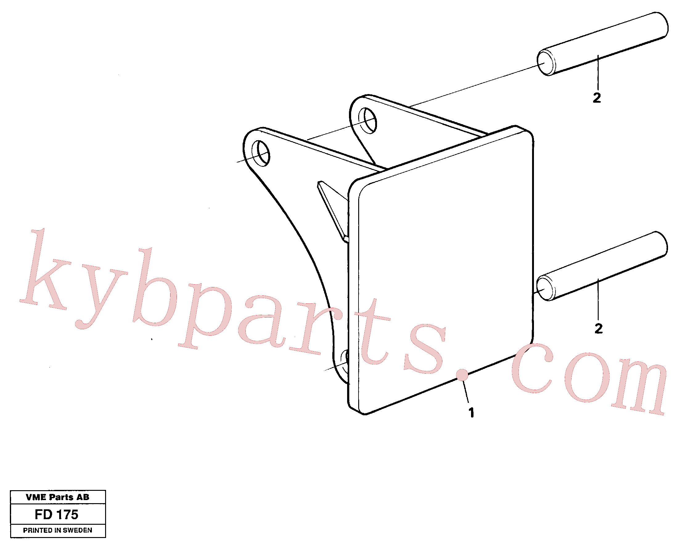 VOE14260983 for Volvo Hammer plate(FD175 assembly)