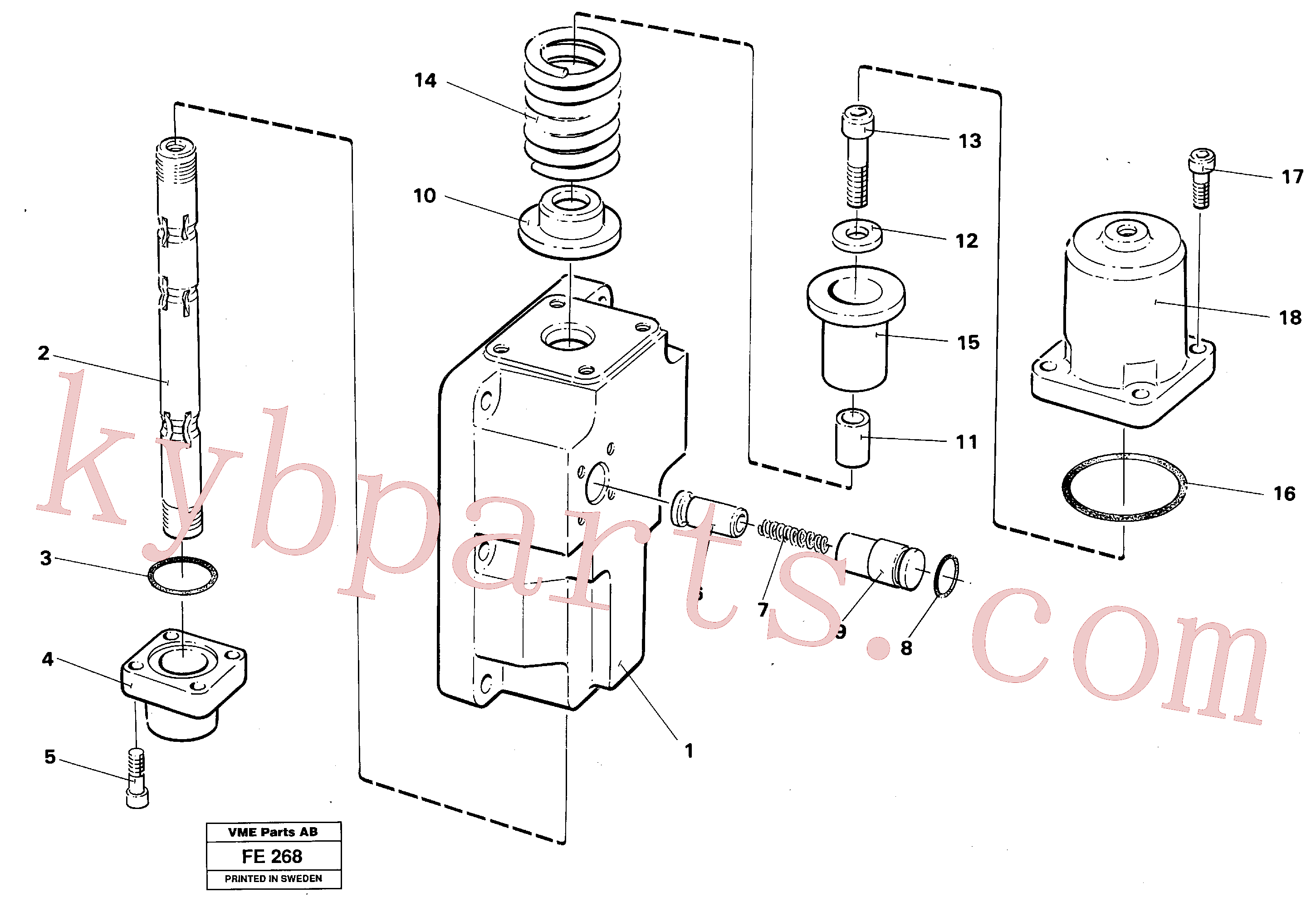 VOE14040408 for Volvo Four-way valve for slewing(FE268 assembly)