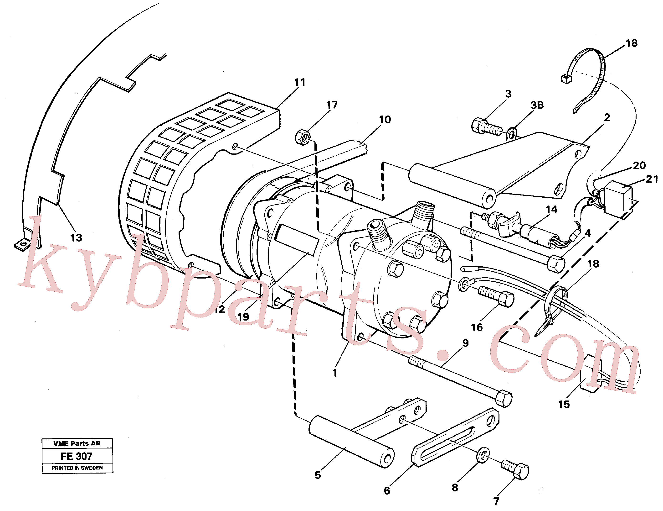 VOE14248863 for Volvo Air-compressor with fitting parts(FE307 assembly)
