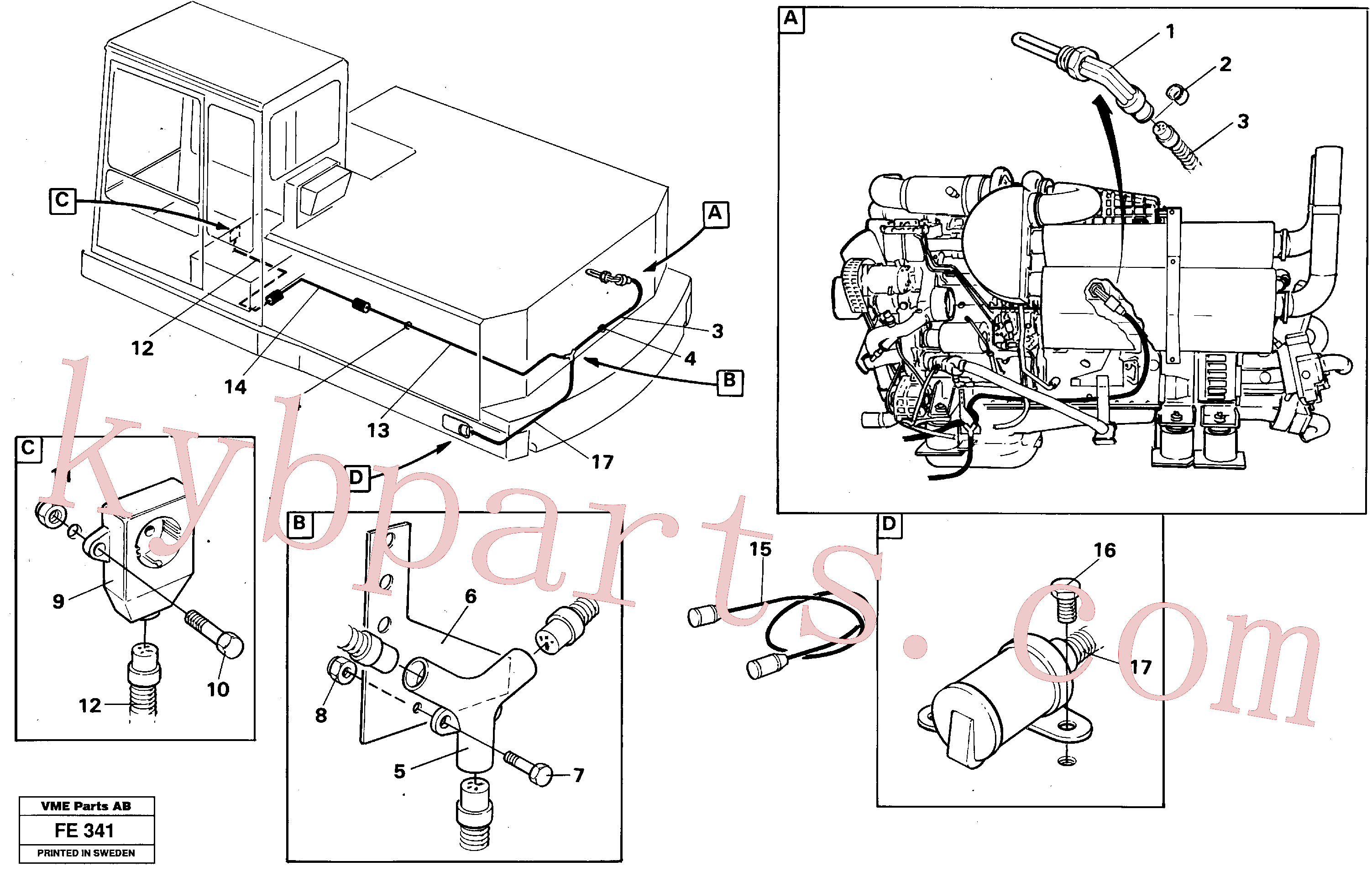 VOE11004943 for Volvo Engine heater(FE341 assembly)