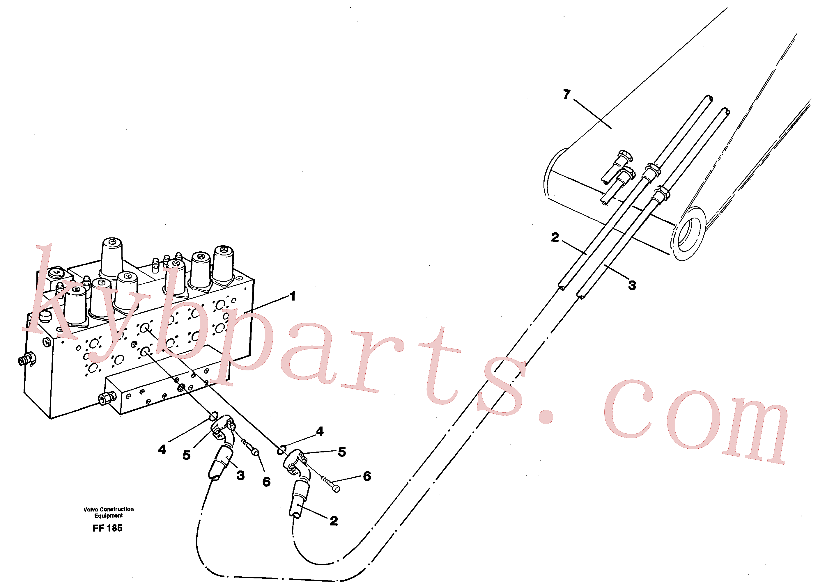 VOE14267472 for Volvo Hydraulic system, dipperarm(FF185 assembly)