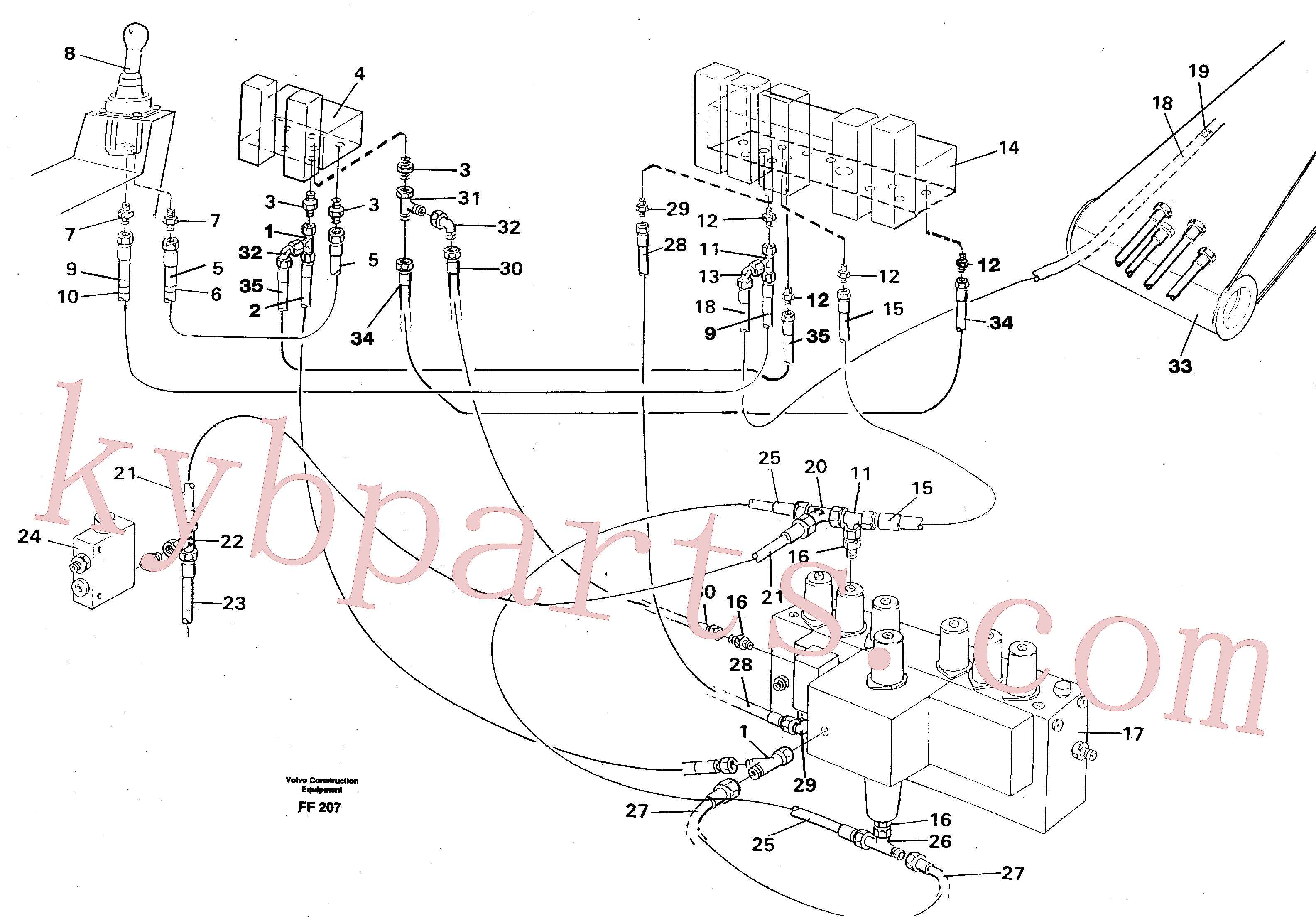VOE14263244 for Volvo Servo hydraulics, boom(FF207 assembly)