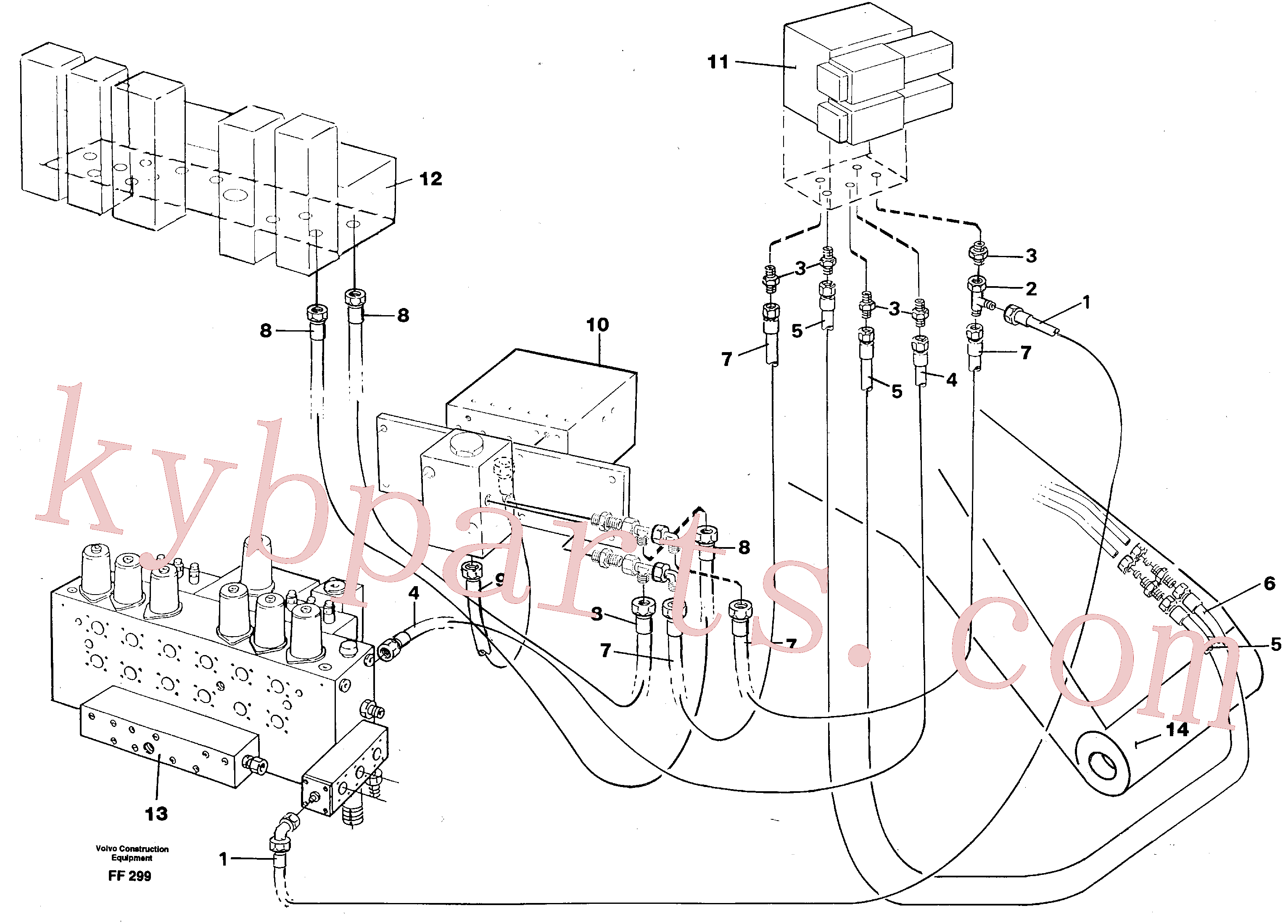 VOE14263244 for Volvo Servo hydraulics, quick fit equipment(FF299 assembly)