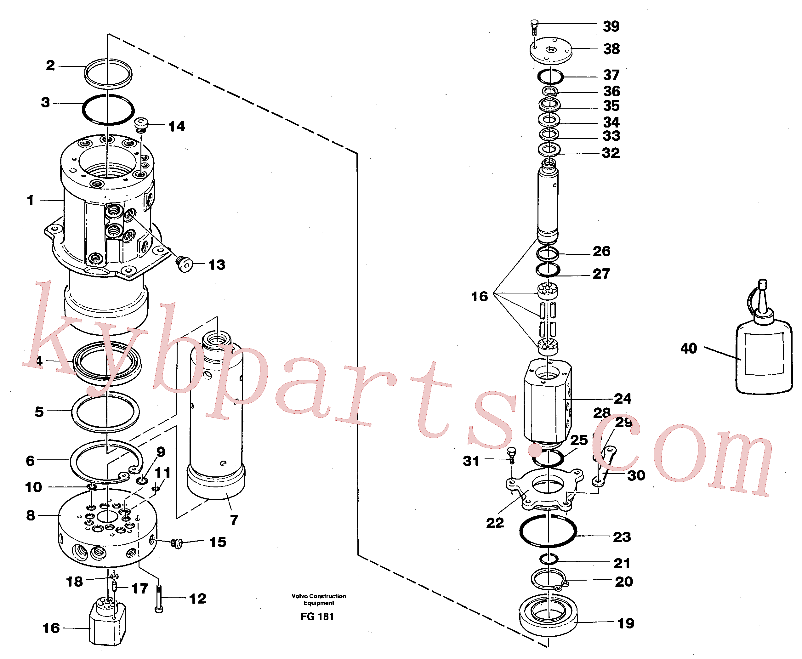 VOE959229 for Volvo Turning joint(FG181 assembly)
