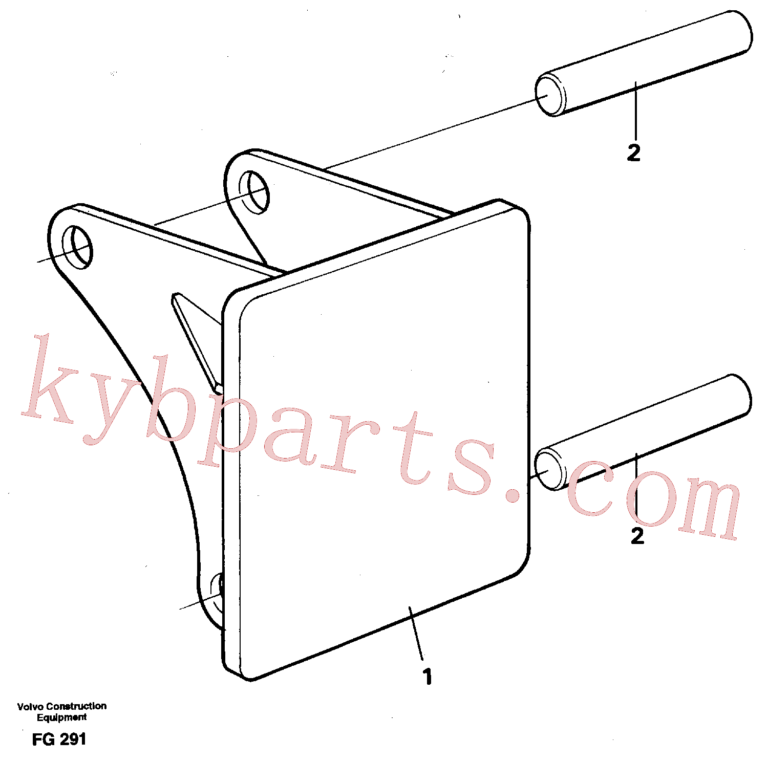 VOE14260983 for Volvo Hammer plate(FG291 assembly)