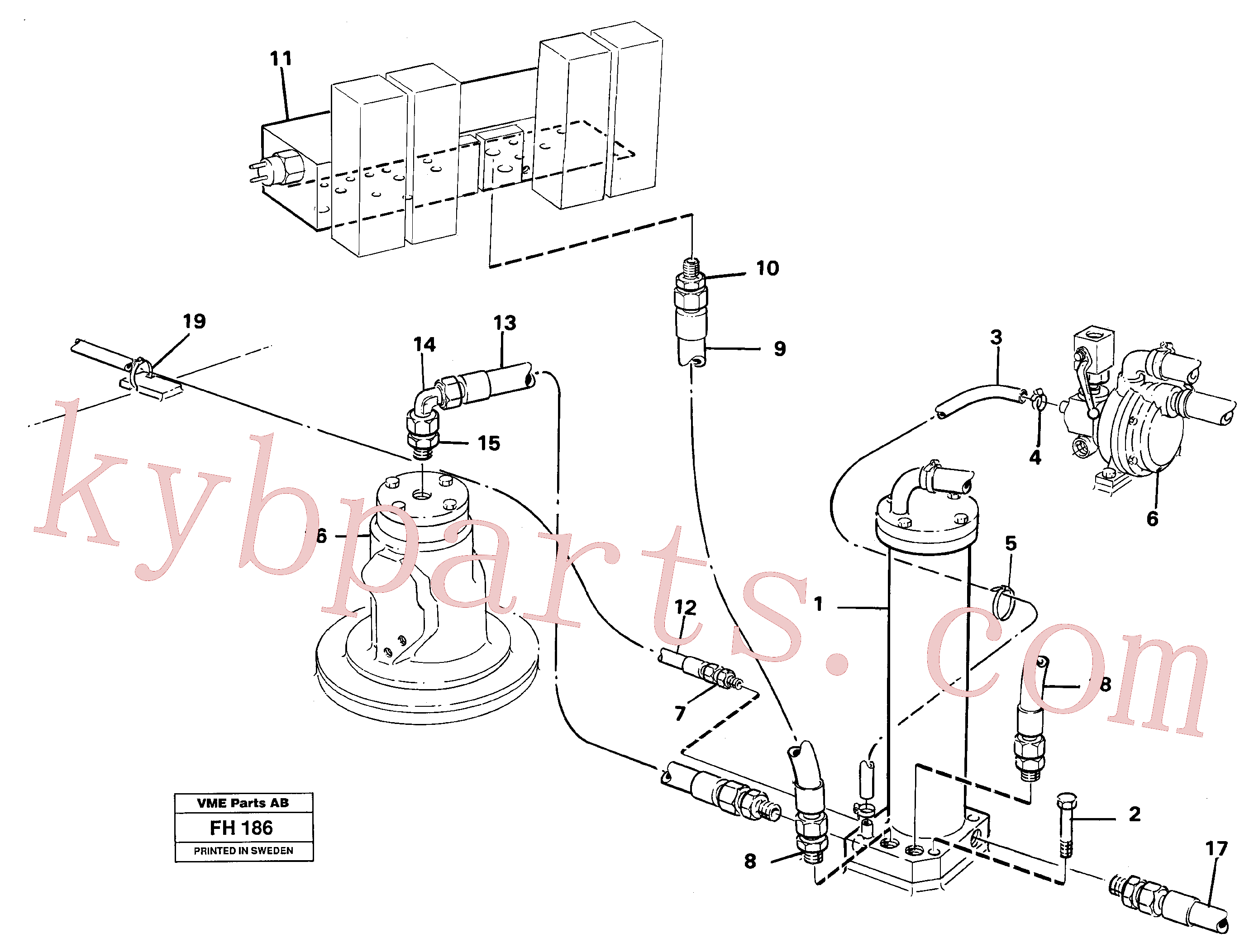 VOE14013952 for Volvo Leak oil filter, with connections(FH186 assembly)
