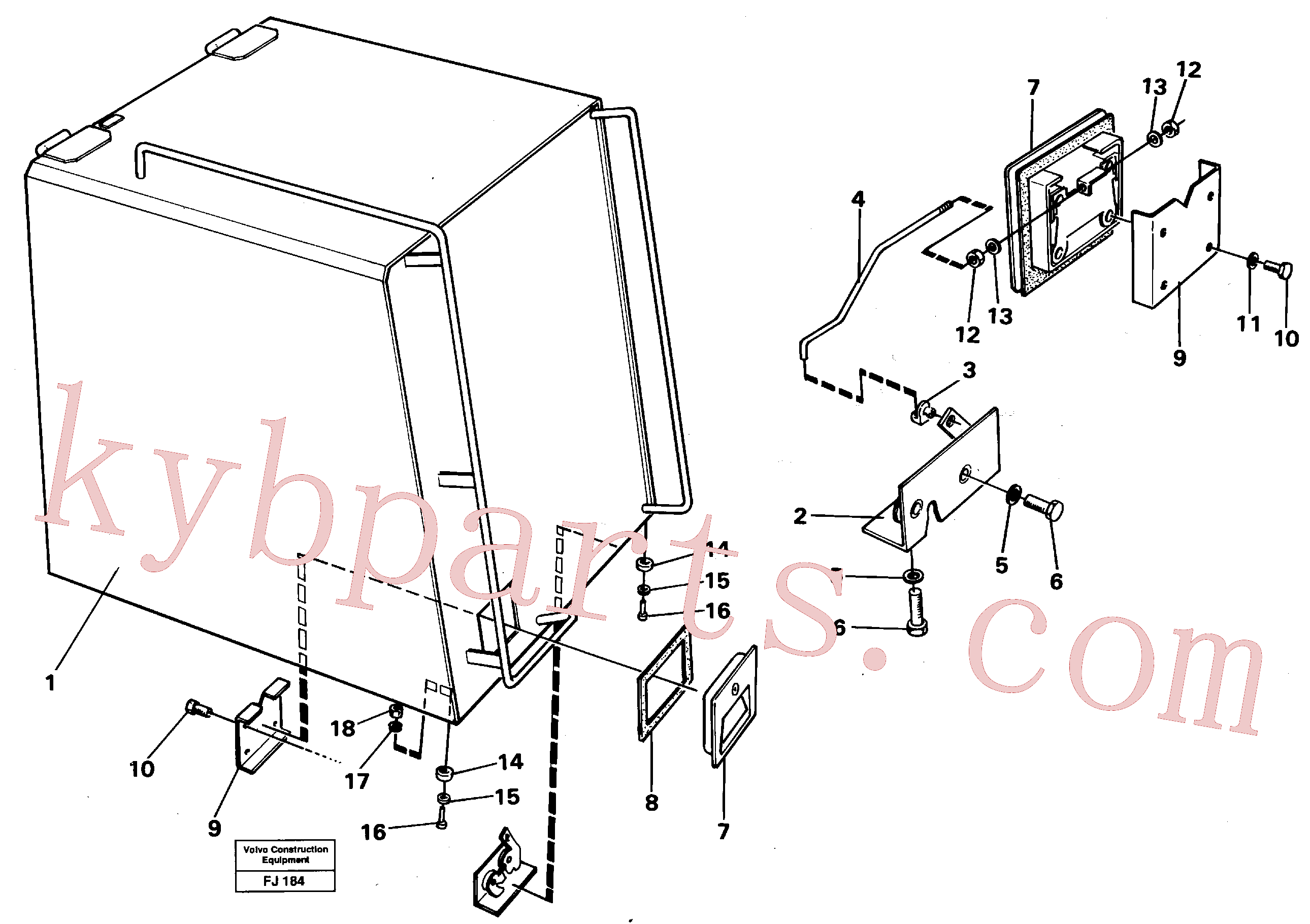VOE14016486 for Volvo Casing over battery(FJ184 assembly)
