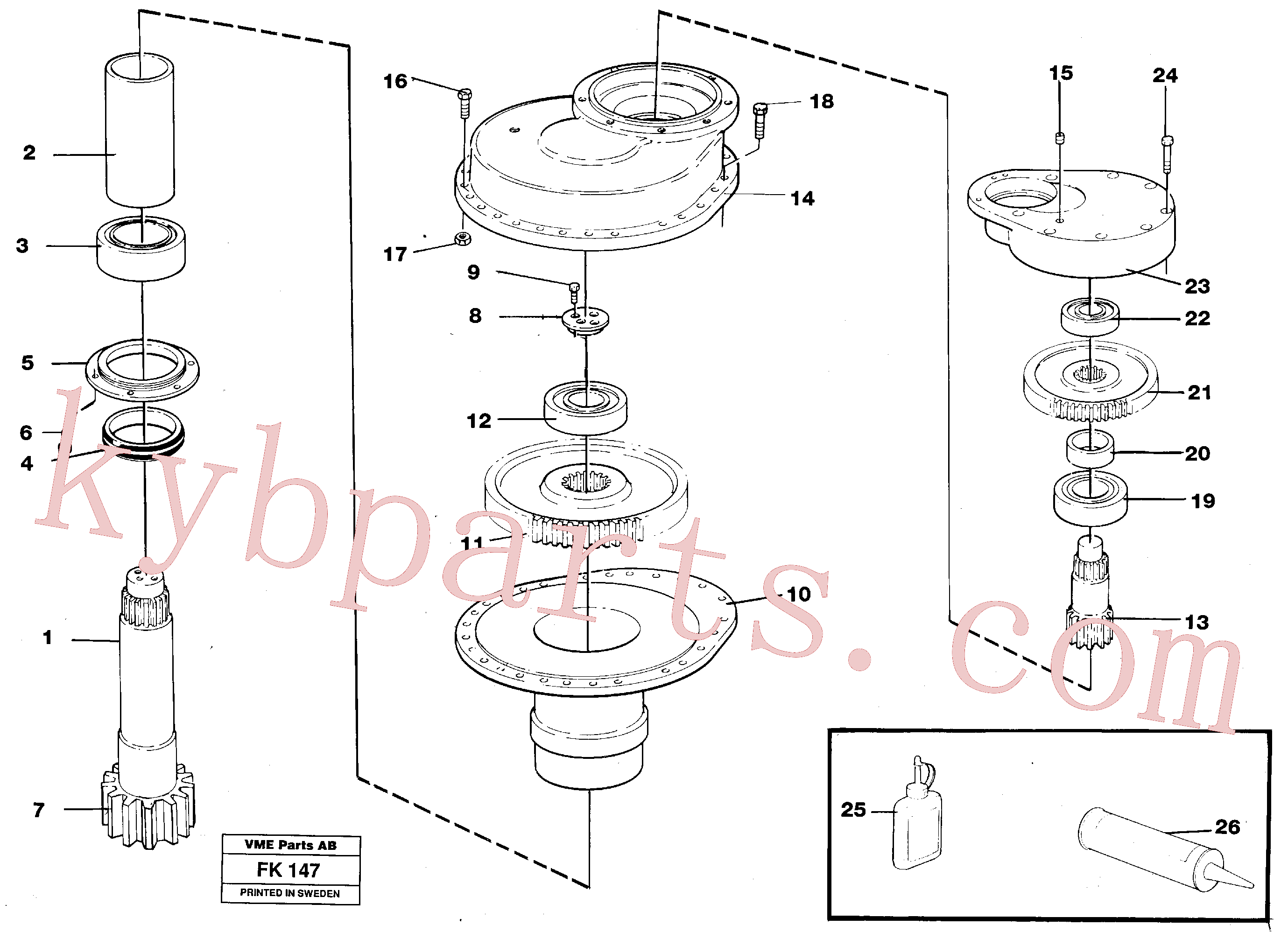 VOE14015043 for Volvo Swing gearbox(FK147 assembly)