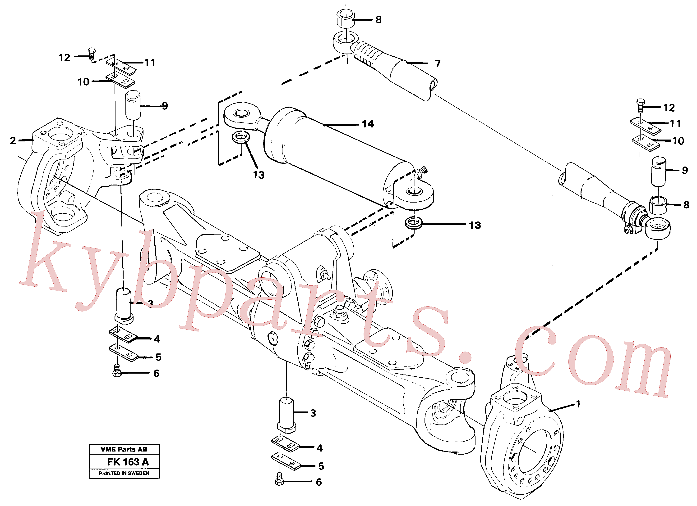 VOE14212414 for Volvo Link housing and parallel stay(FK163A assembly)