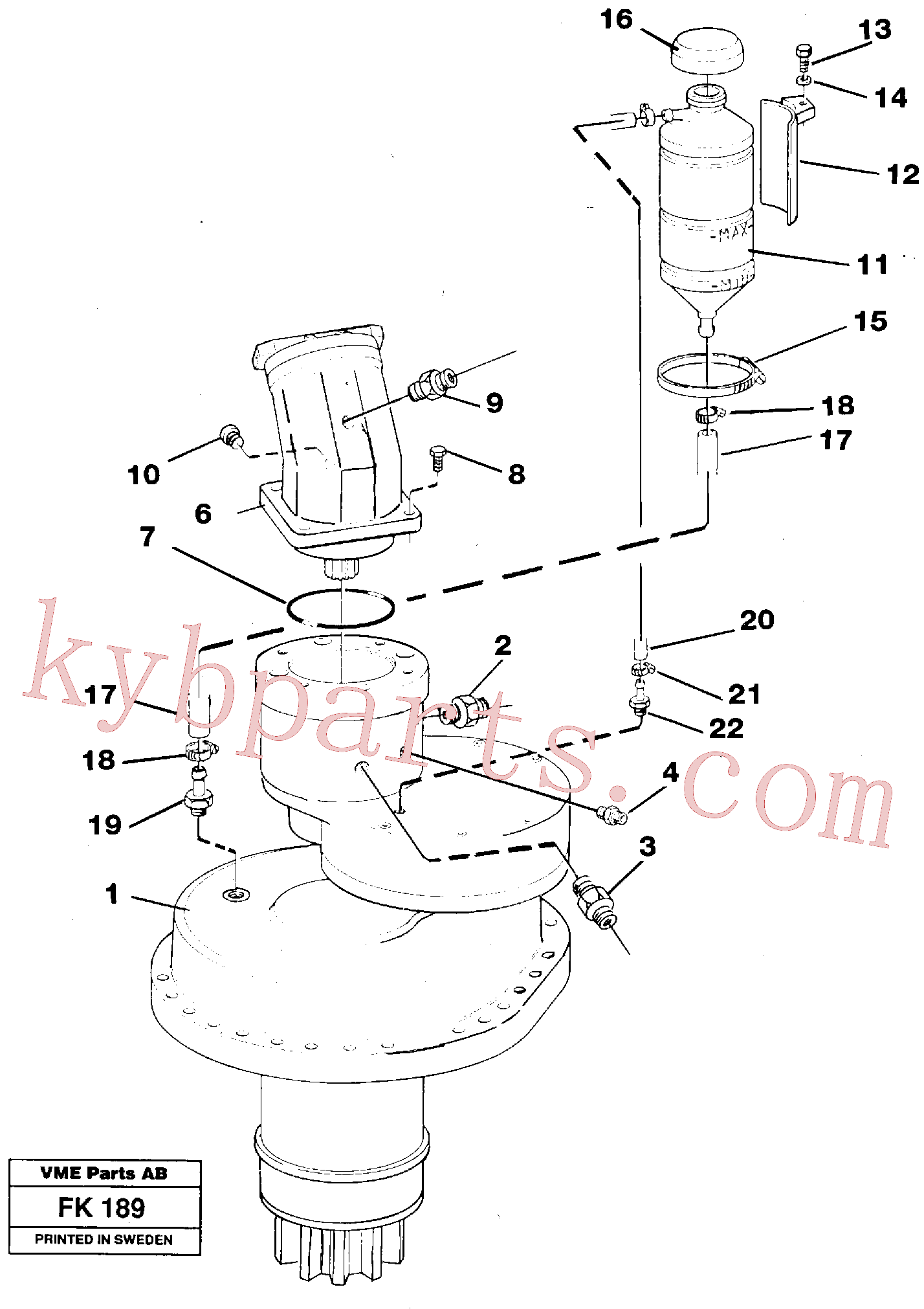 VOE14252875 for Volvo Slewing gear box, compl.(FK189 assembly)