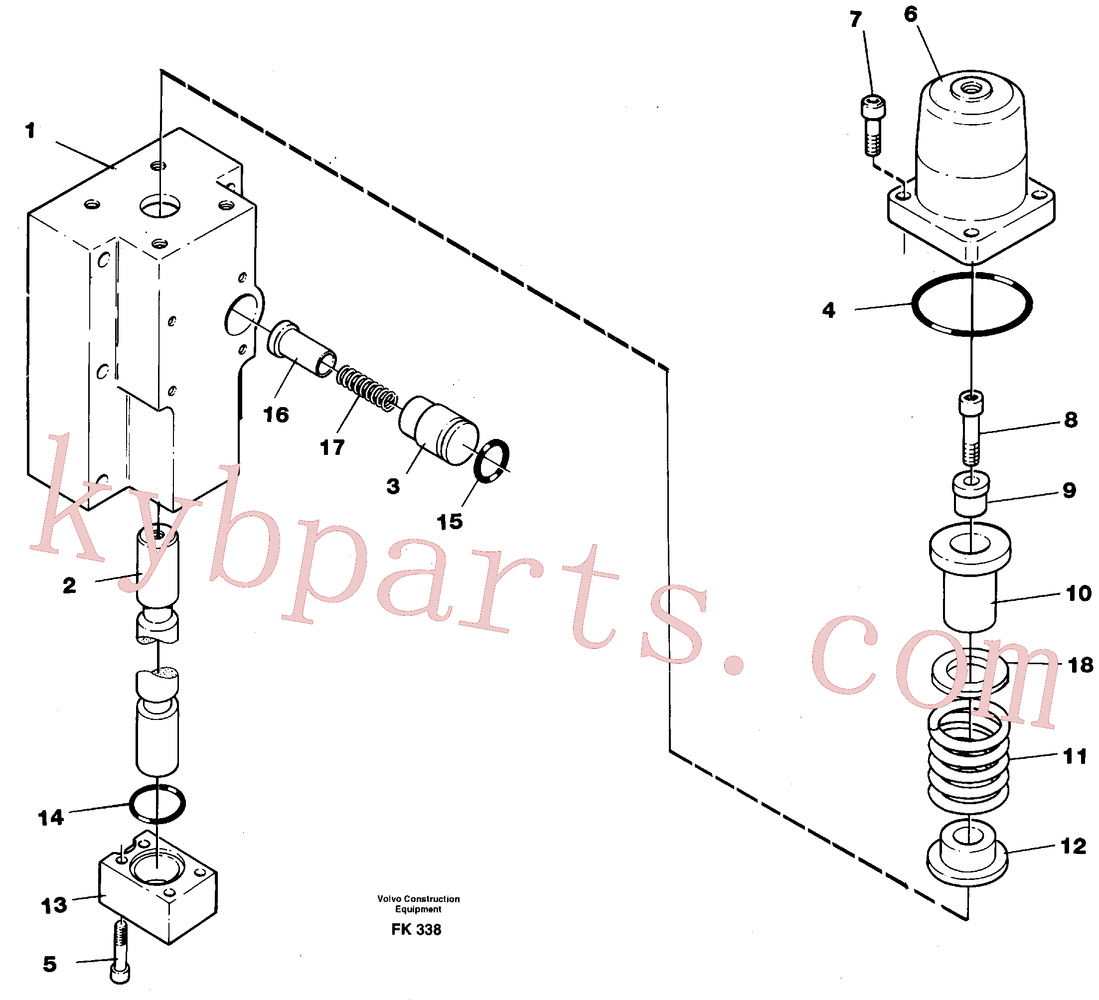 VOE14266829 for Volvo Four-way valve, boom secondary(FK338 assembly)