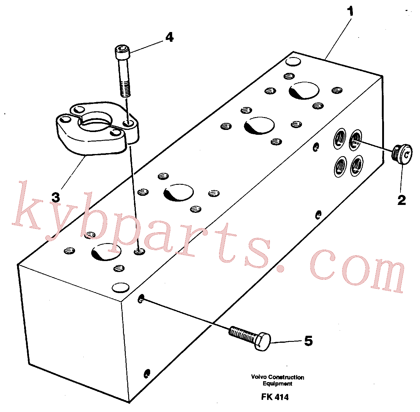 VOE14254028 for Volvo Connection board(FK414 assembly)