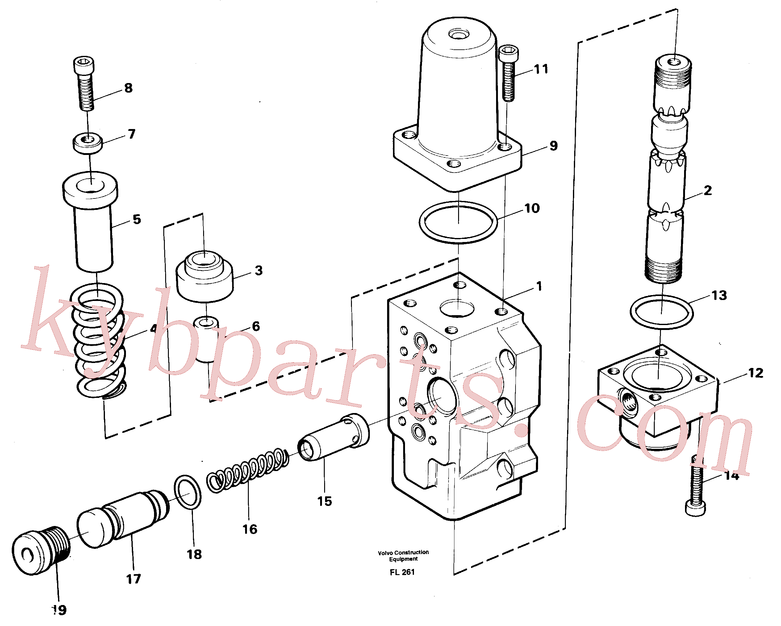 VOE14023271 for Volvo Four-way valve, boom primary(FL261 assembly)