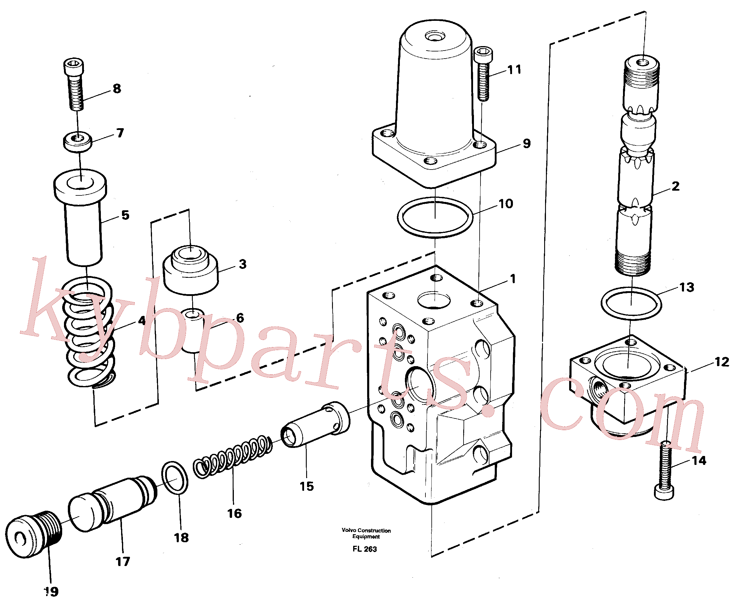 VOE14012817 for Volvo Four-way valve, bucket primary(FL263 assembly)
