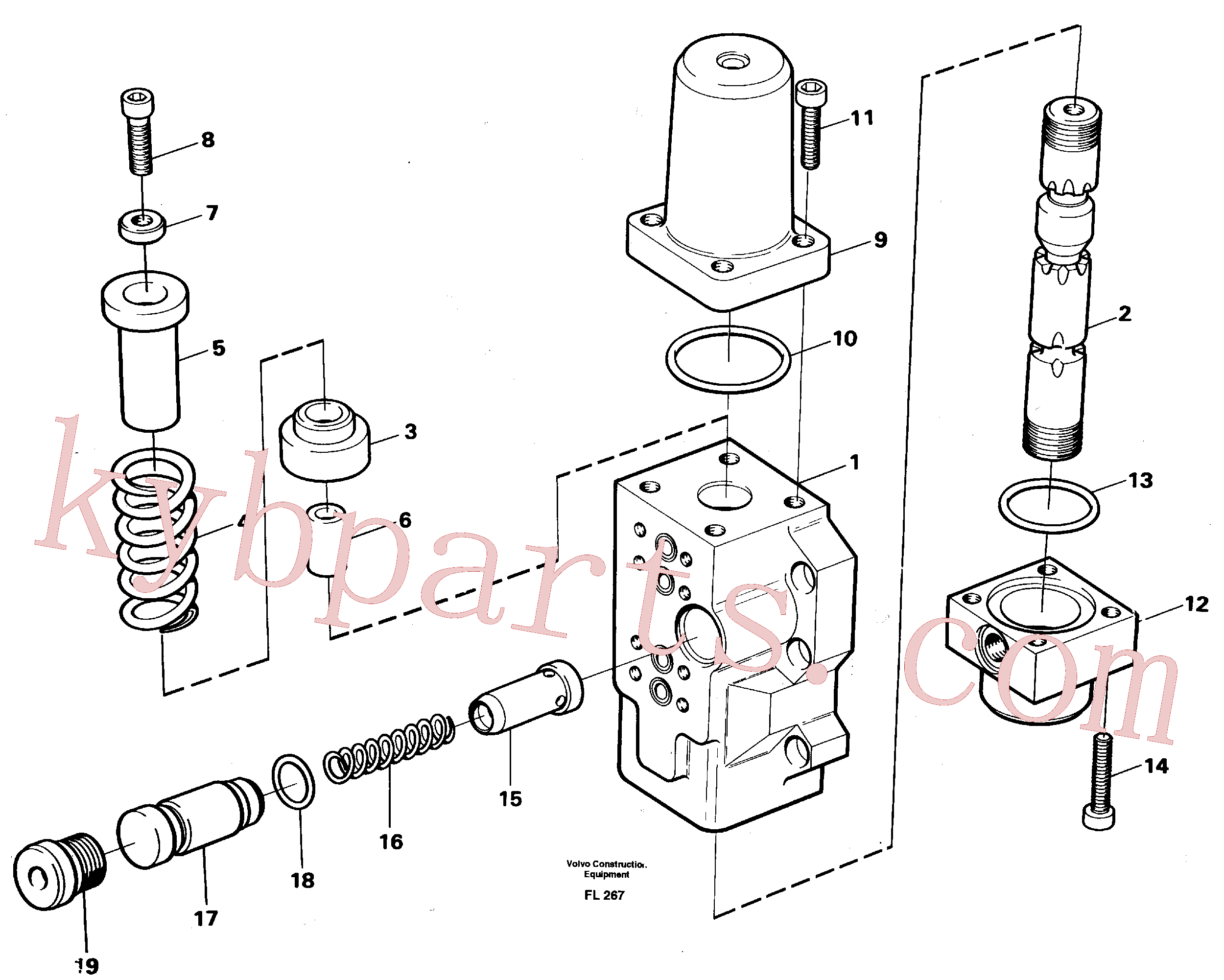 VOE14023271 for Volvo Fourway valve, transport primary and secondary(FL267 assembly)