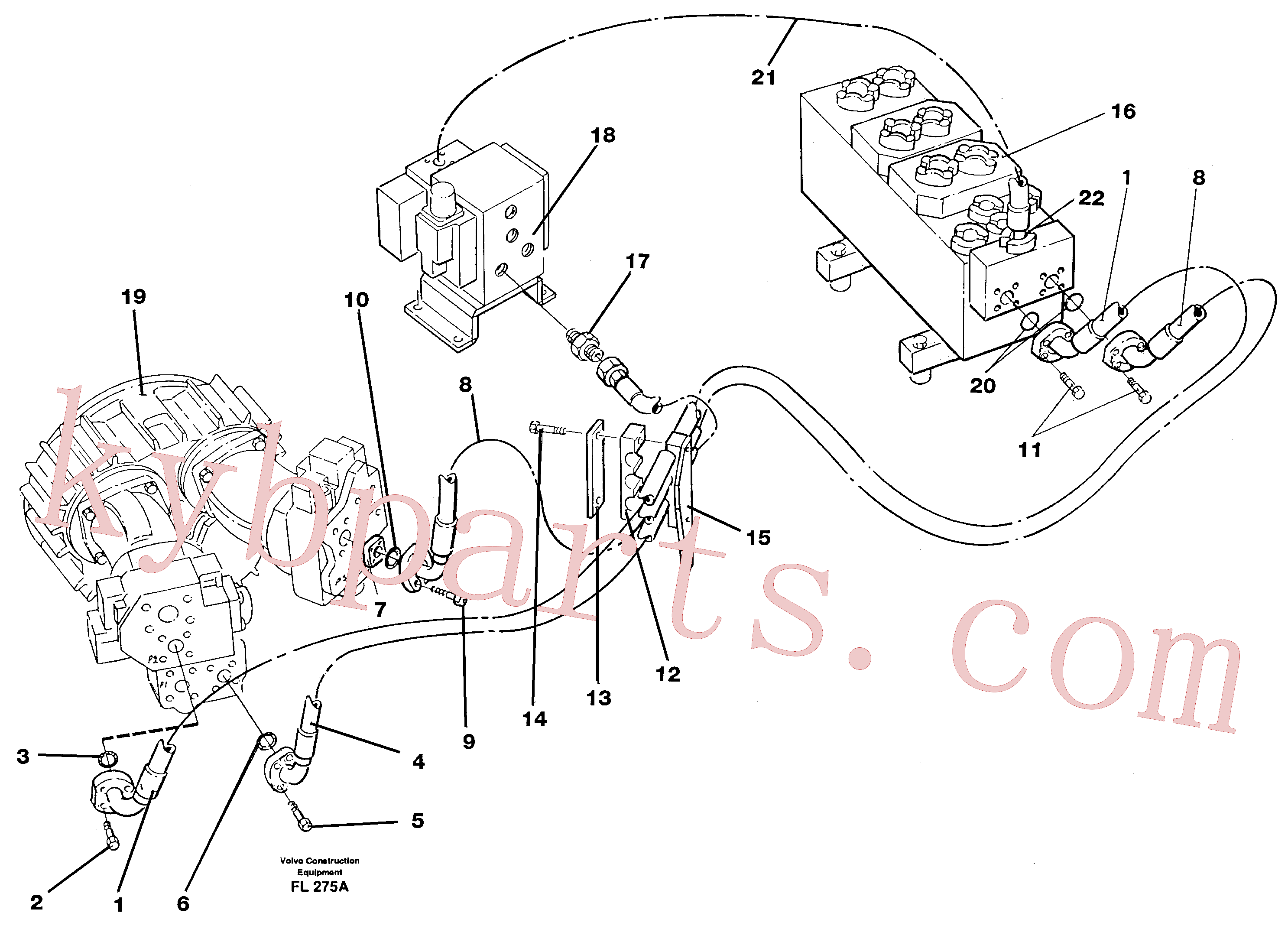 VOE14263450 for Volvo Hydraulic system, feed line(FL275A assembly)