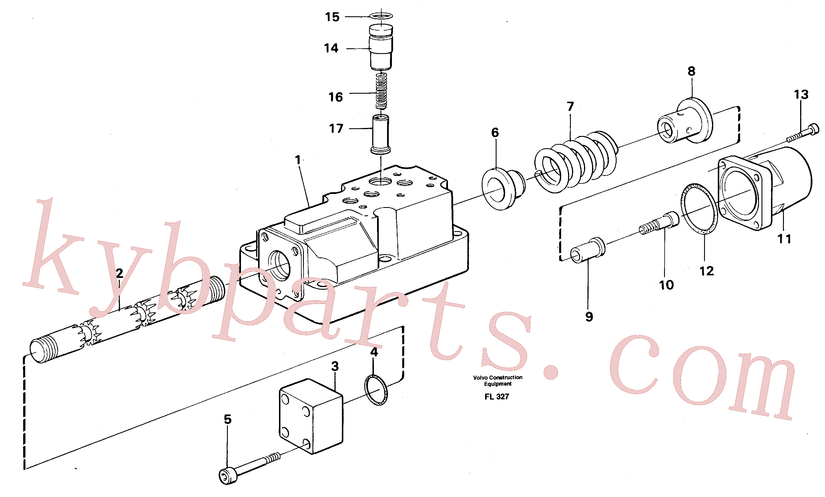 VOE14040408 for Volvo Four-way valve(FL327 assembly)