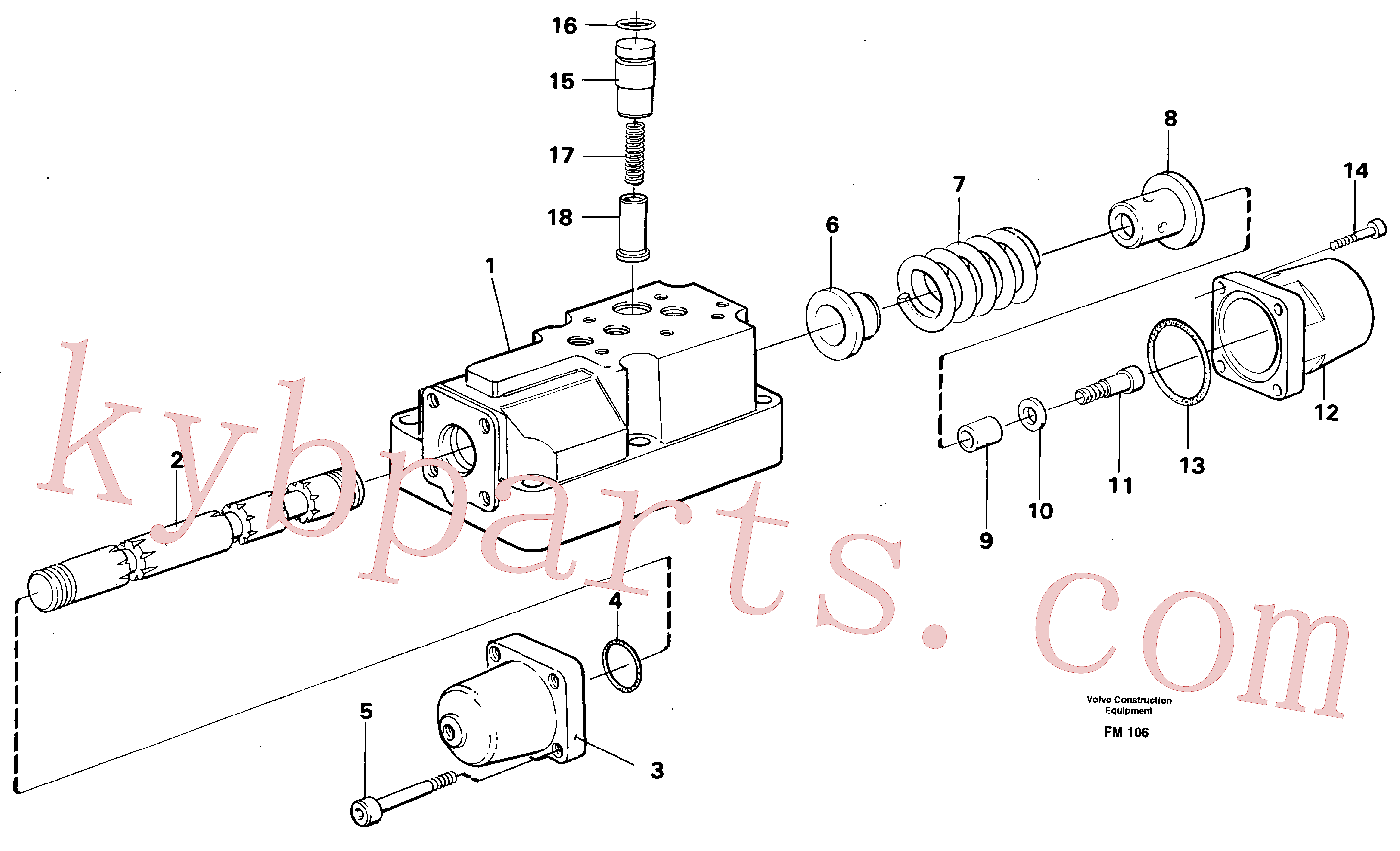 VOE14040408 for Volvo Four-way valve(FM106 assembly)