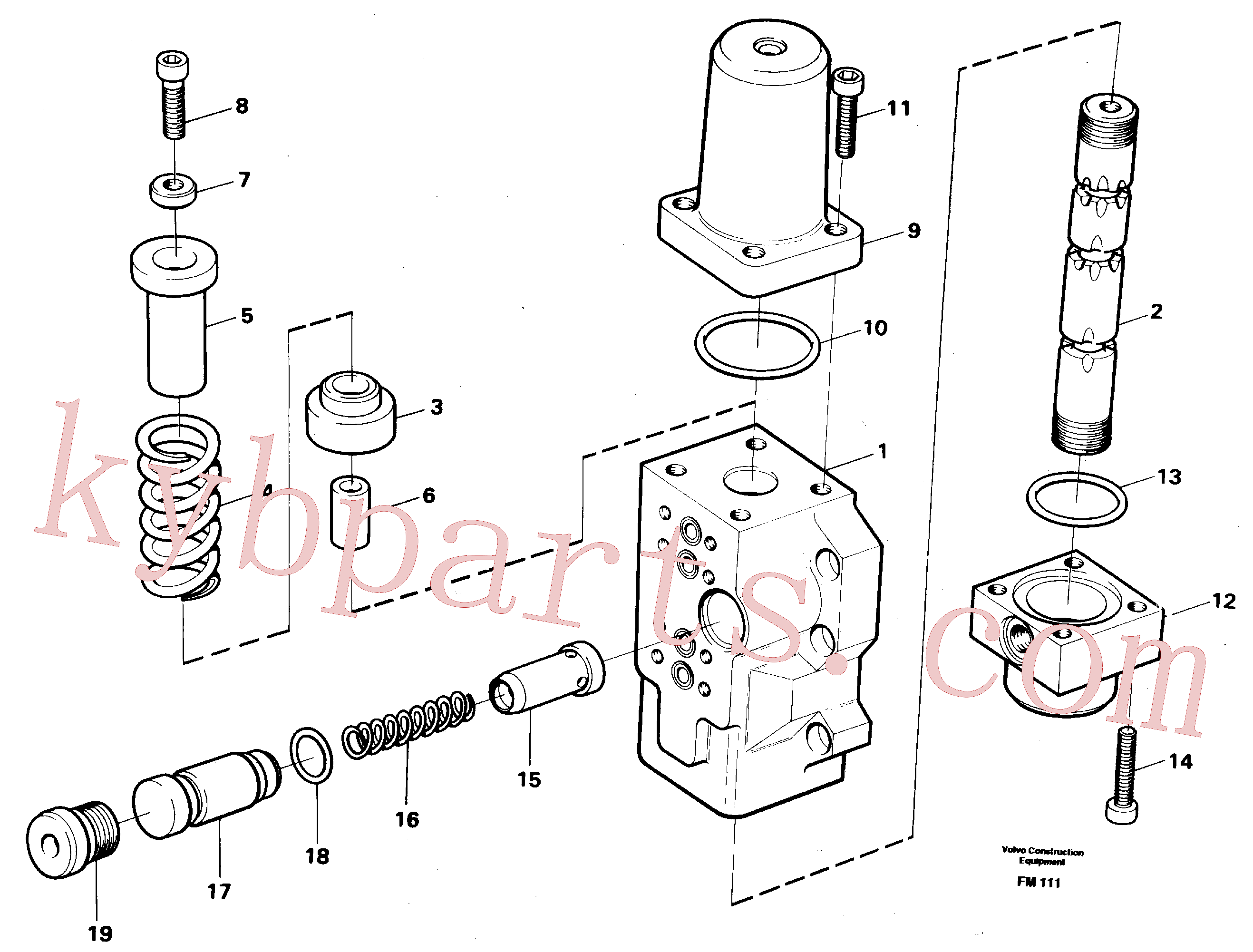 VOE14012817 for Volvo Fourway valve, bucket primary and secondary(FM111 assembly)