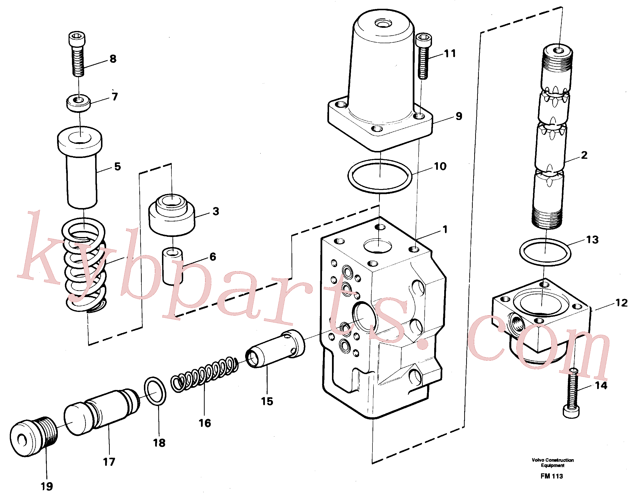 VOE14012817 for Volvo Fourway valve, boom primary(FM113 assembly)