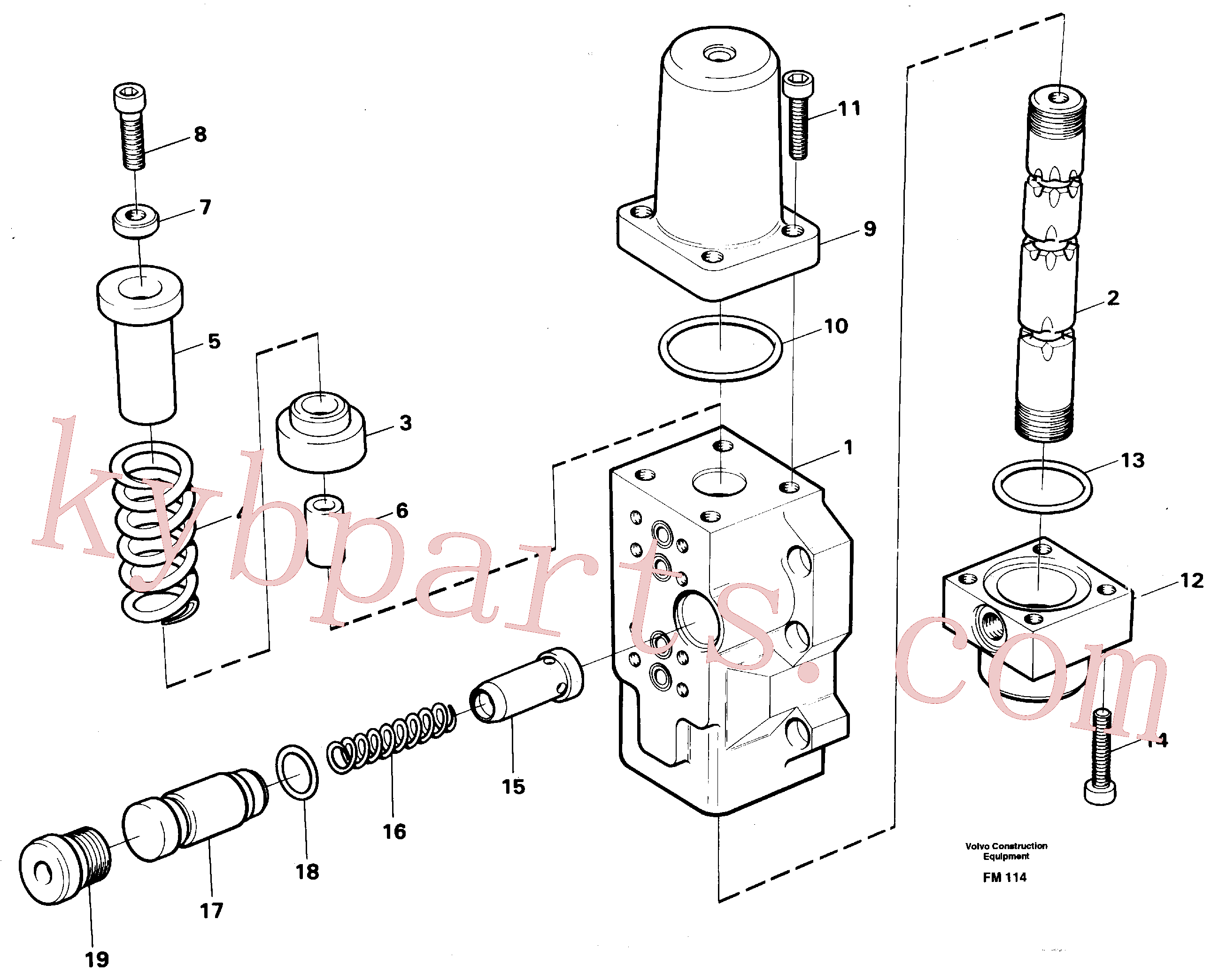 VOE14012817 for Volvo Fourway valve, boom secondary(FM114 assembly)